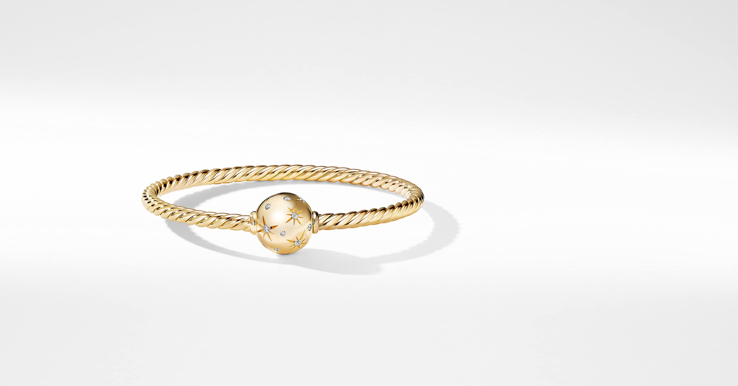 Solari Station Bracelet with Diamonds in 18K Gold