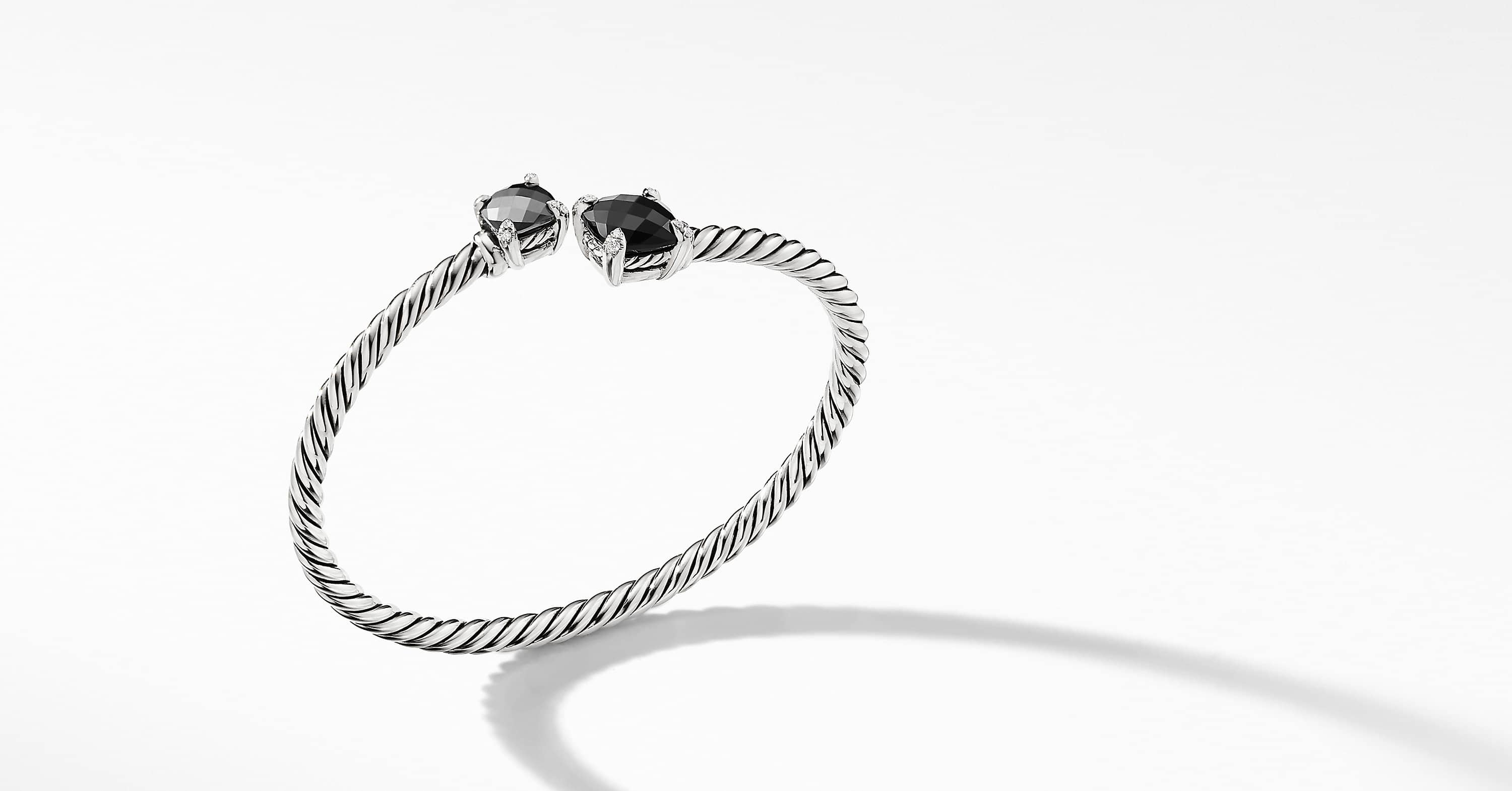 Chatelaine Bypass Bracelet with Diamonds