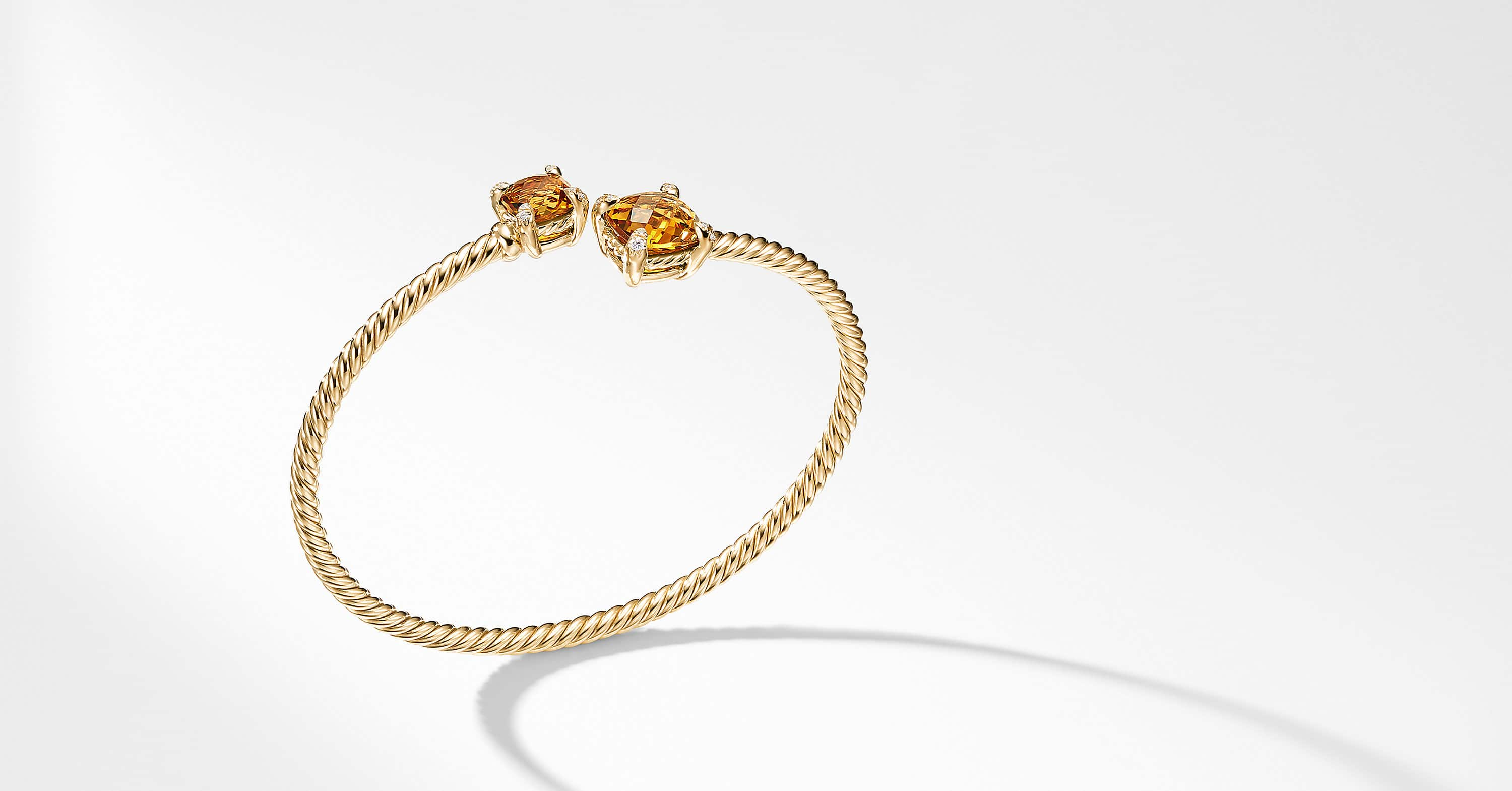 Chatelaine Bypass Bracelet with Diamonds in 18K Gold