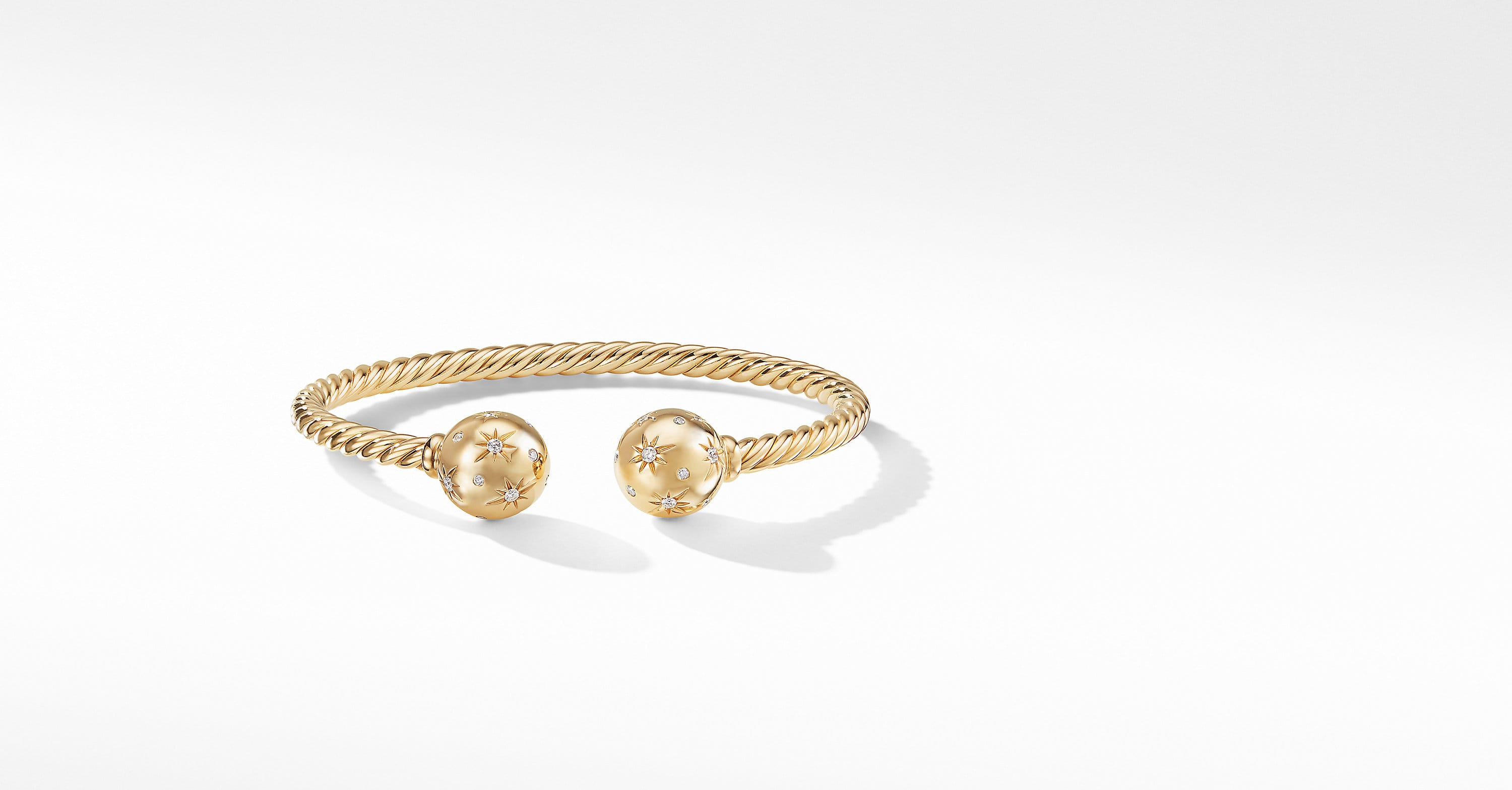 Solari Bead Bracelet with Diamonds in 18K Gold, 12mm