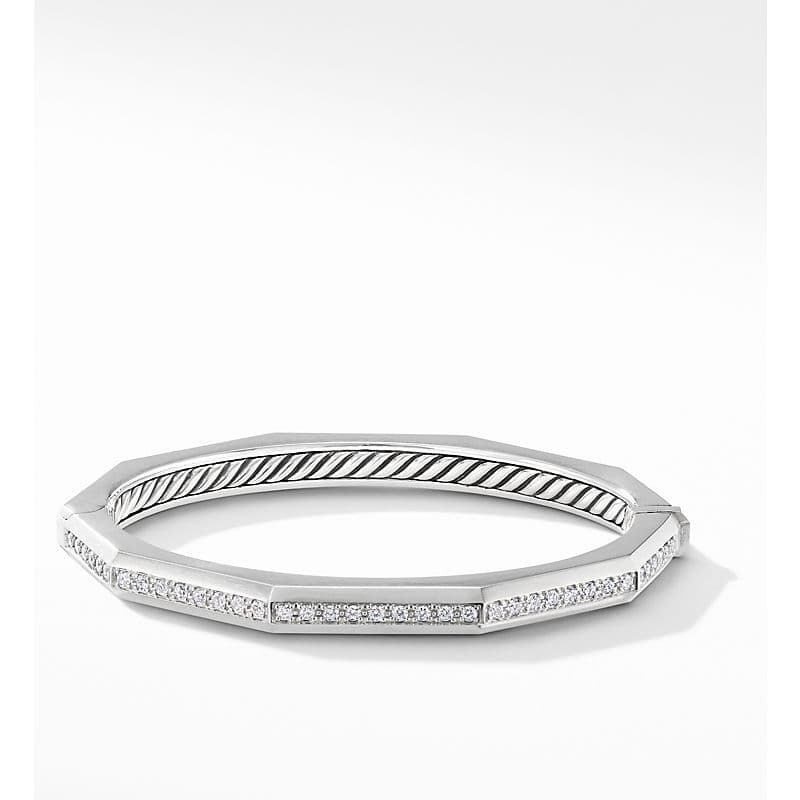 Stax Faceted Bracelet with Diamonds