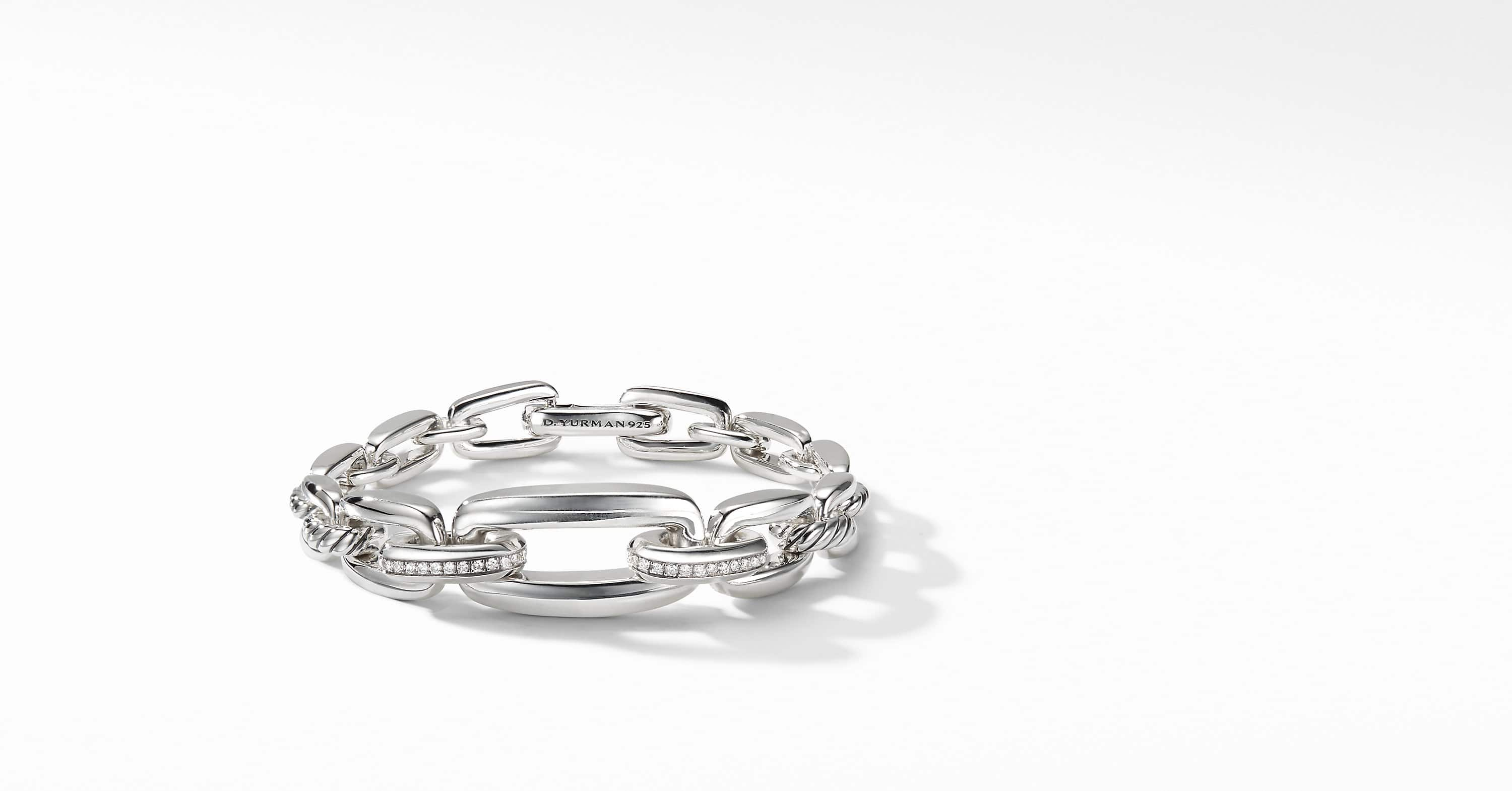 Wellesley Link Chain Bracelet with Diamonds