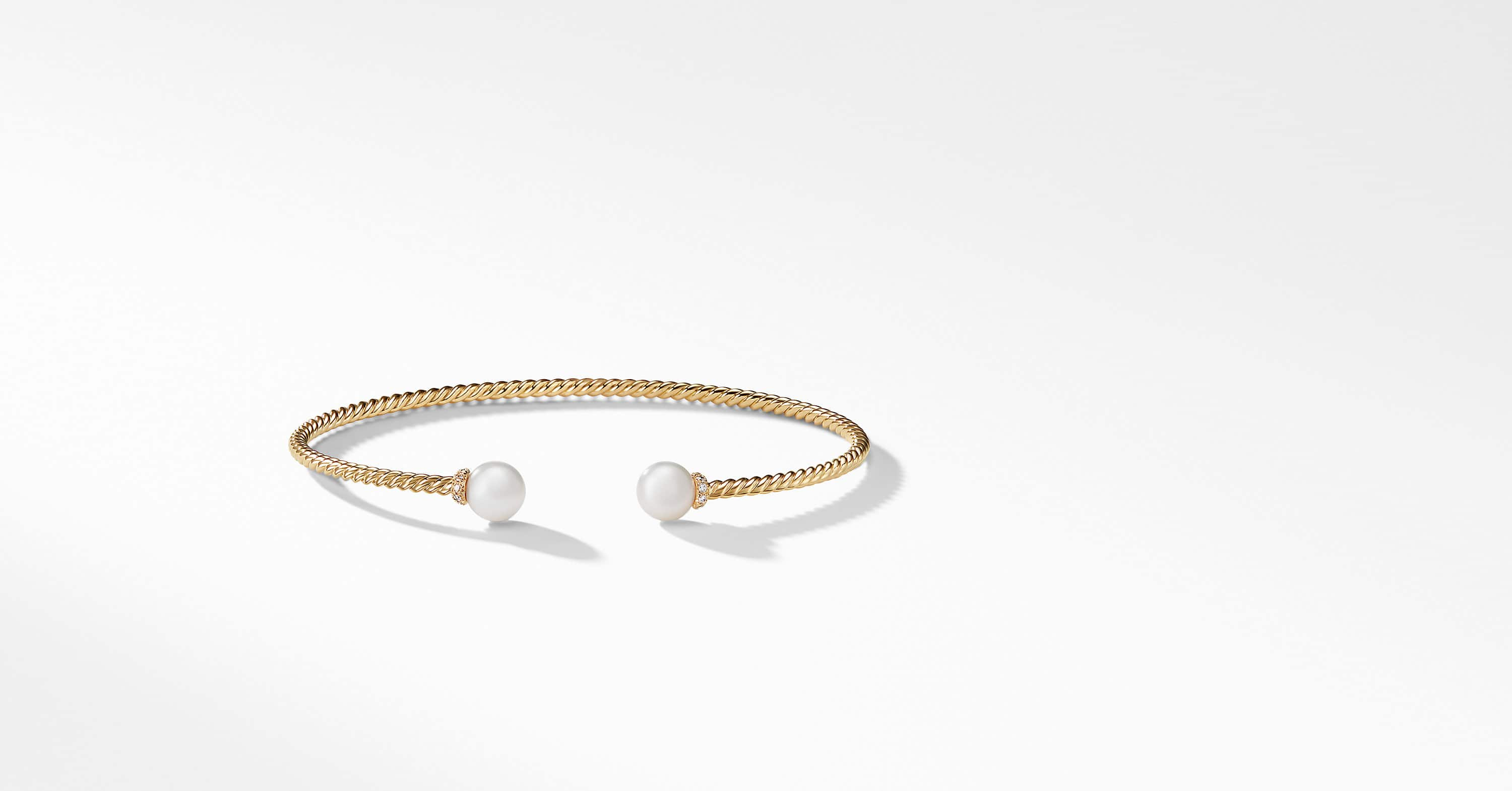 Solari Pearl Bracelet with Diamonds in 18K Gold