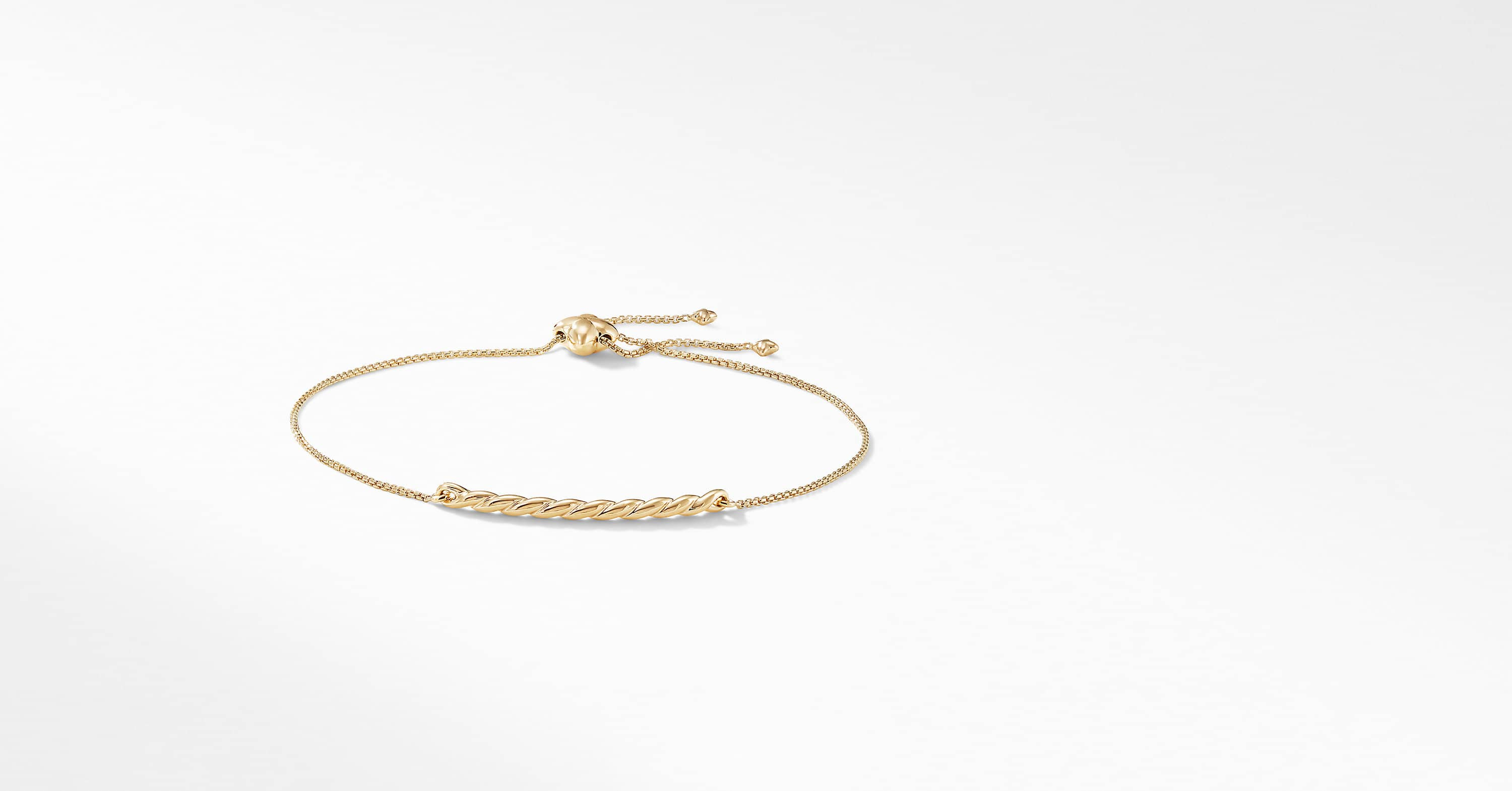 Pavéflex Station Bracelet in 18K Gold