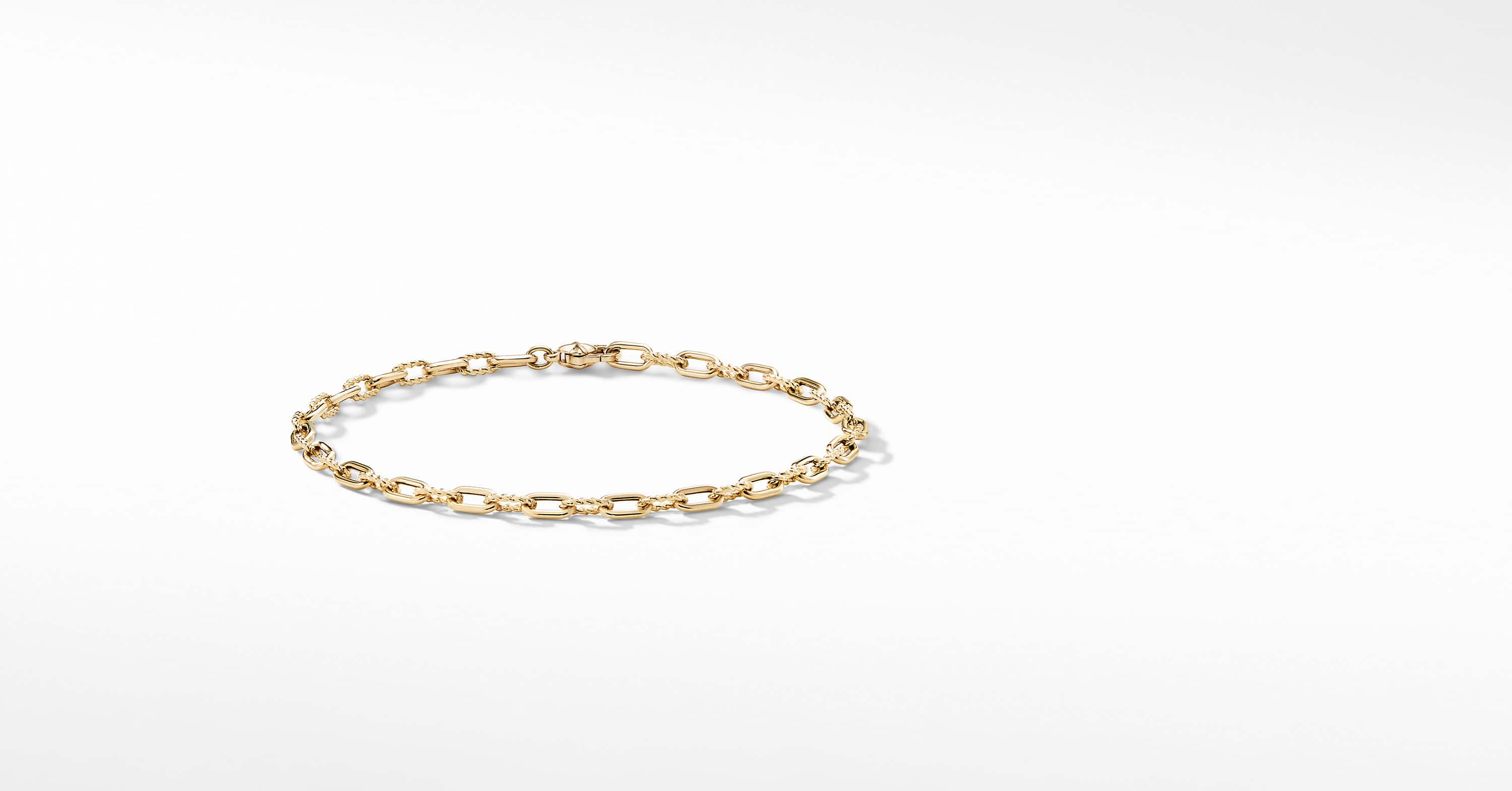 DY Madison Chain Thin Bracelet in 18K Gold, 3mm
