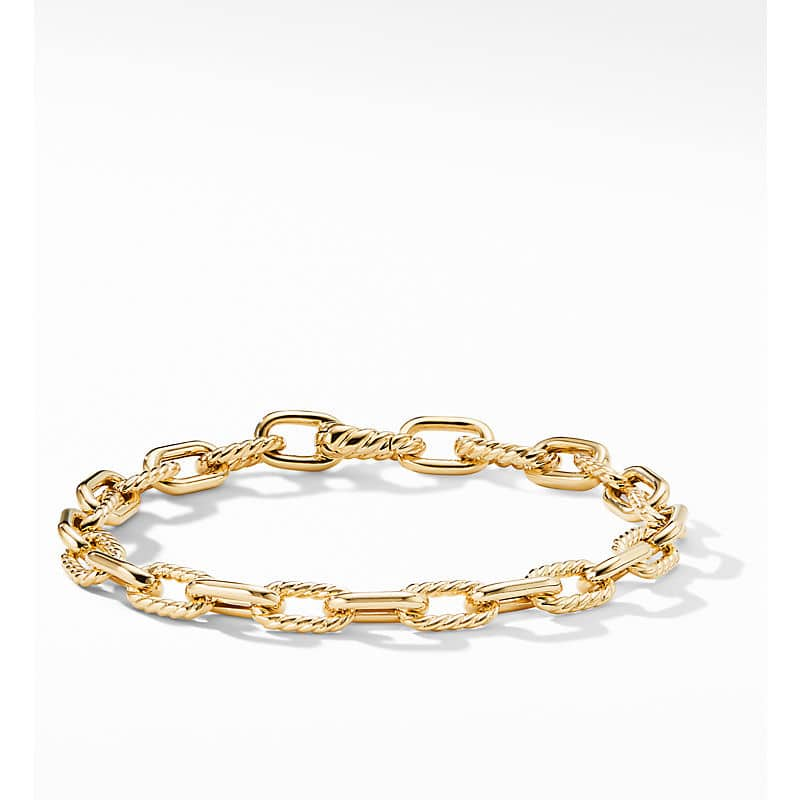 DY Madison Chain Bold Bracelet in 18K Gold, 6mm