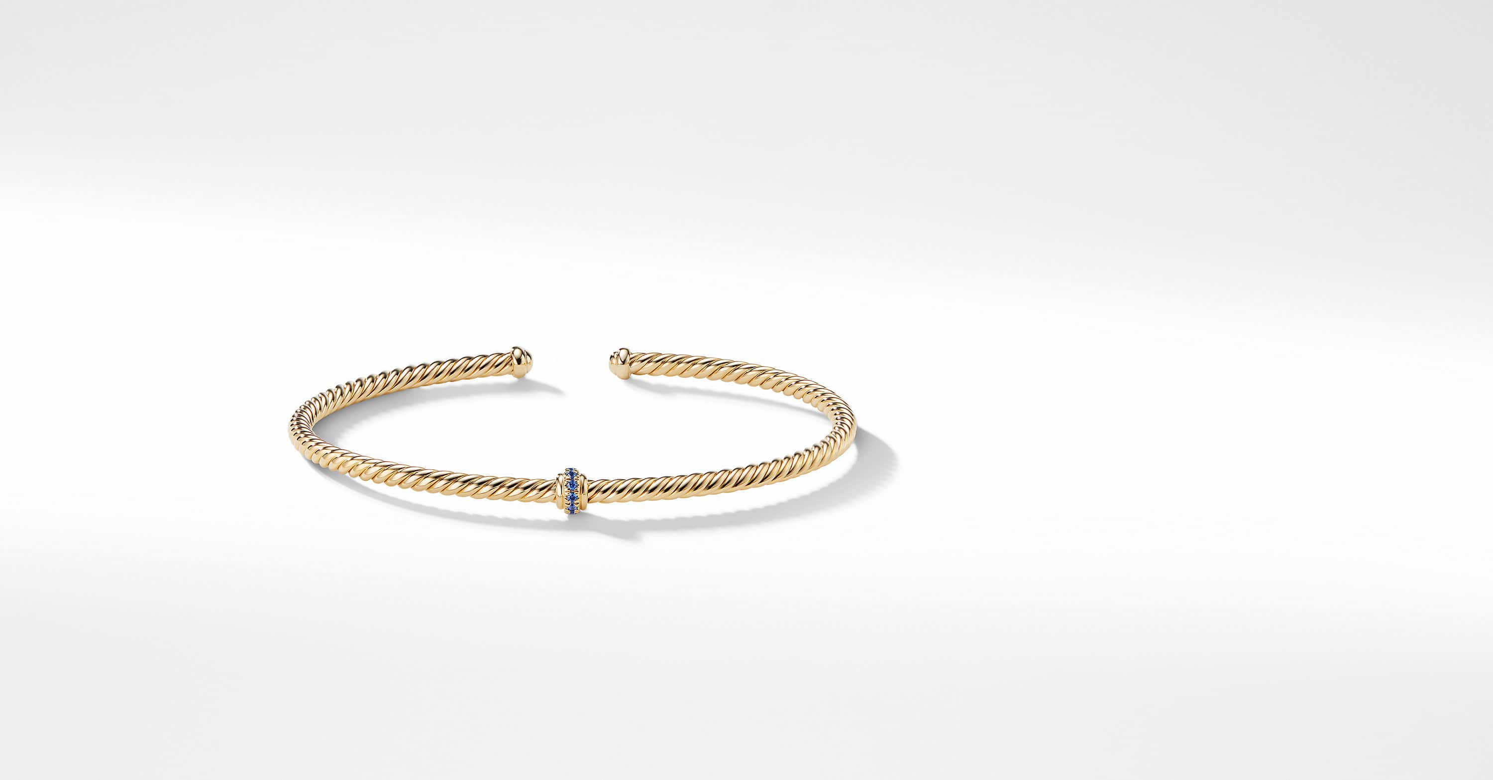 Renaissance Center Station Bracelet in 18K Gold, 3mm