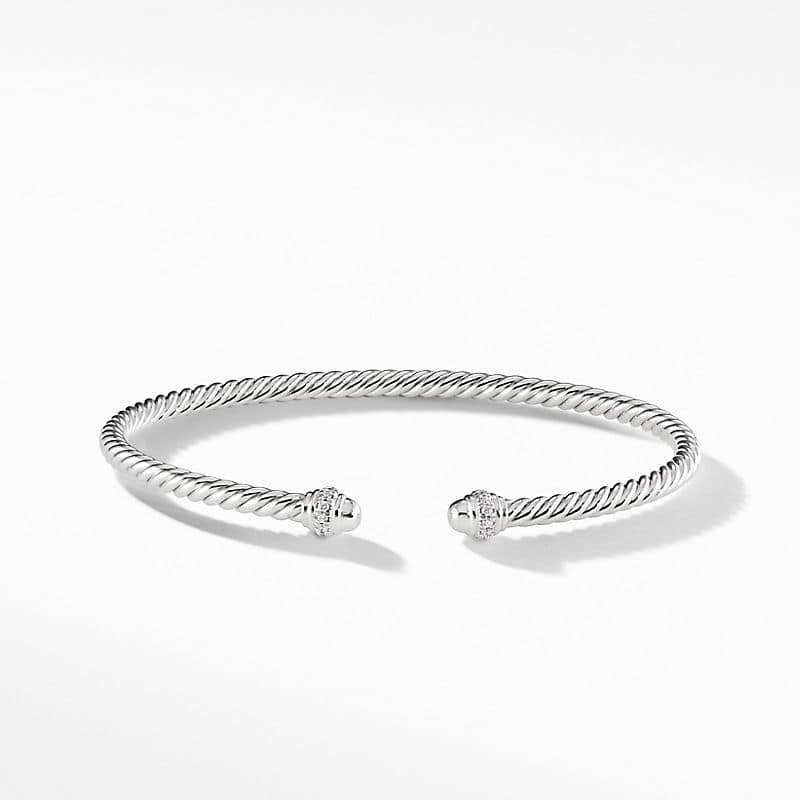 Cable Spira® Bracelet in 18K White Gold with