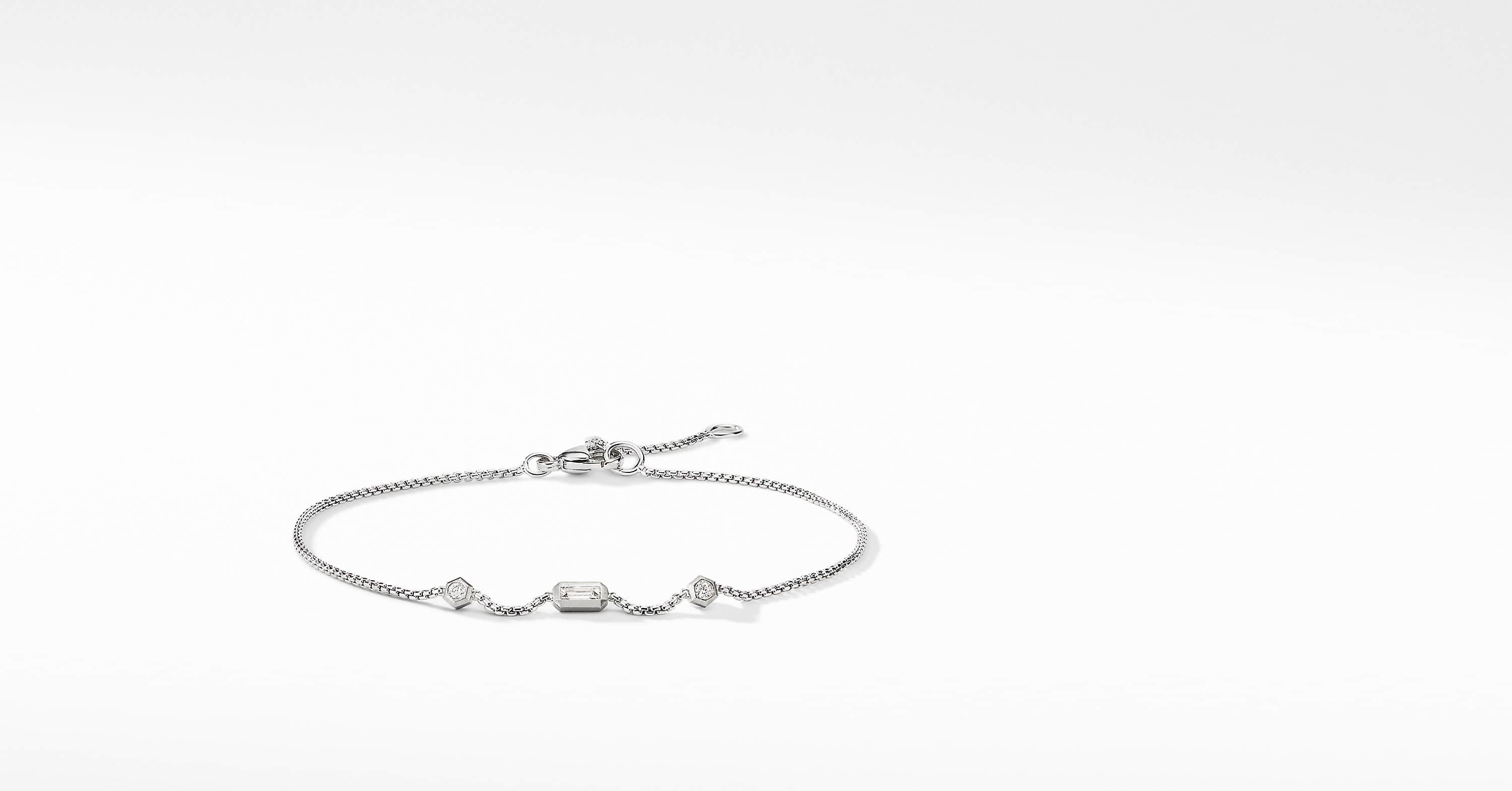 Novella Chain Bracelet with Diamonds in 18K White Gold