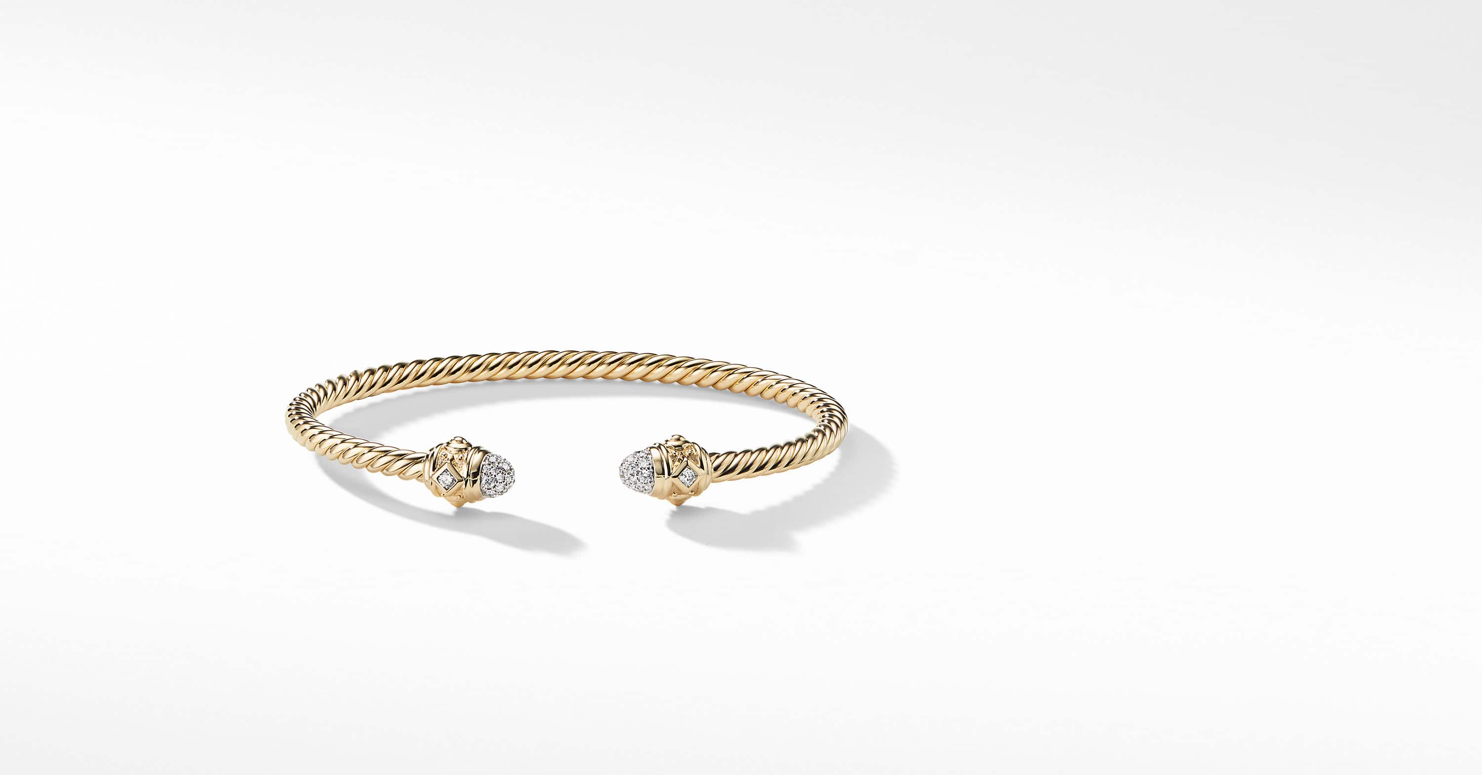 Renaissance Bracelet with Diamonds in 18K Gold, 3.5mm