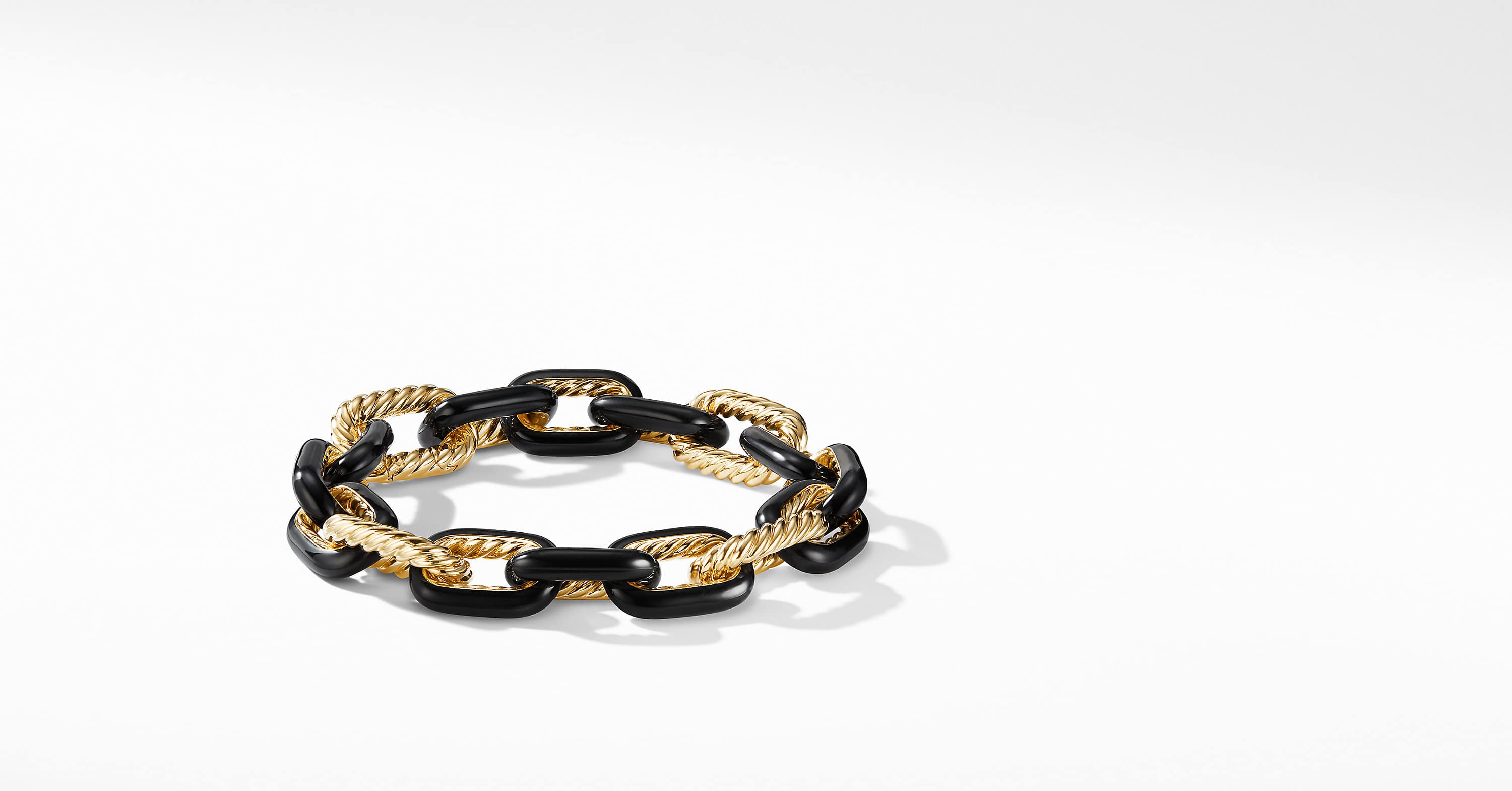 DY Madison Chain Bracelet in 18K Gold, 12.5mm