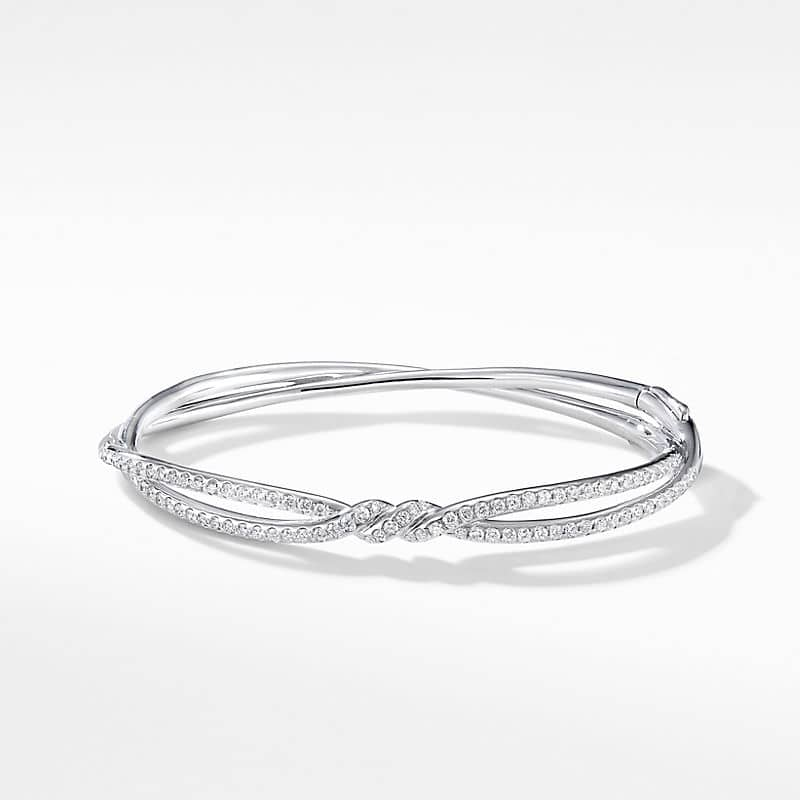 Continuance® Bracelet in 18K White Gold with Pavé