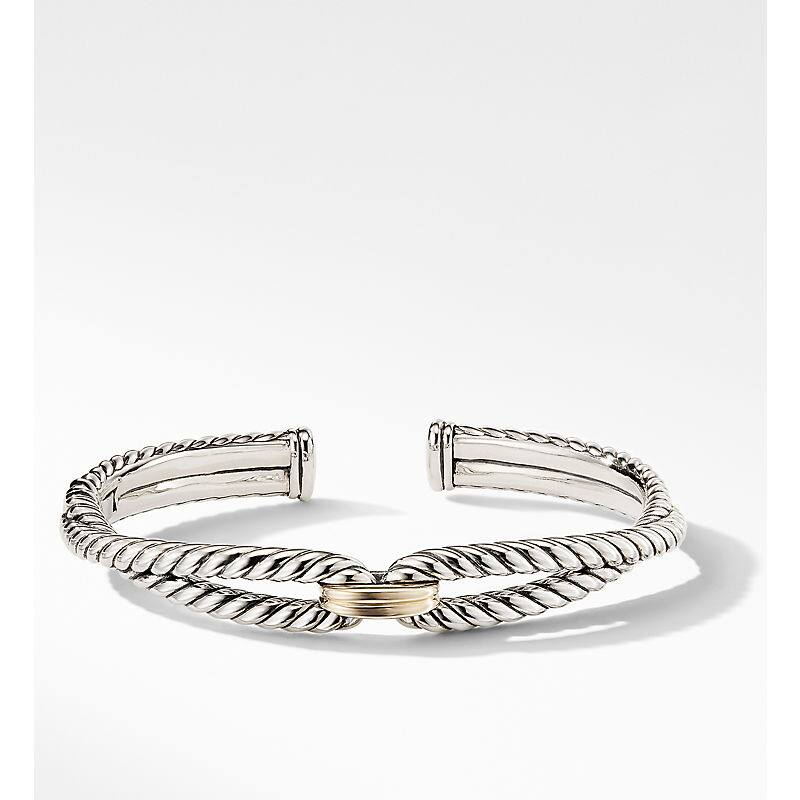 Cable Loop Bracelet with 18K Gold, 9mm