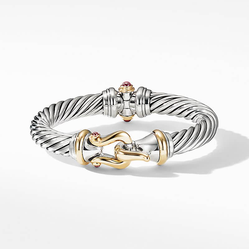 Cable Buckle Bracelet with 18K Yellow Gold and