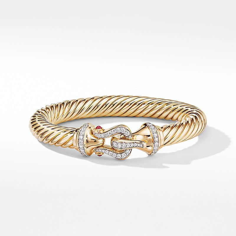Cable Buckle Bracelet in 18K Yellow Gold with