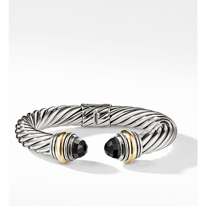 Cable Classic Collection Bracelet with 14K Yellow Gold, 10mm