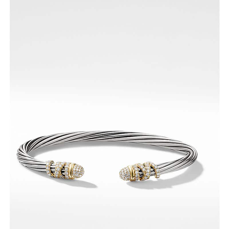 Helena Bracelet with 18K Gold Accent, 4mm