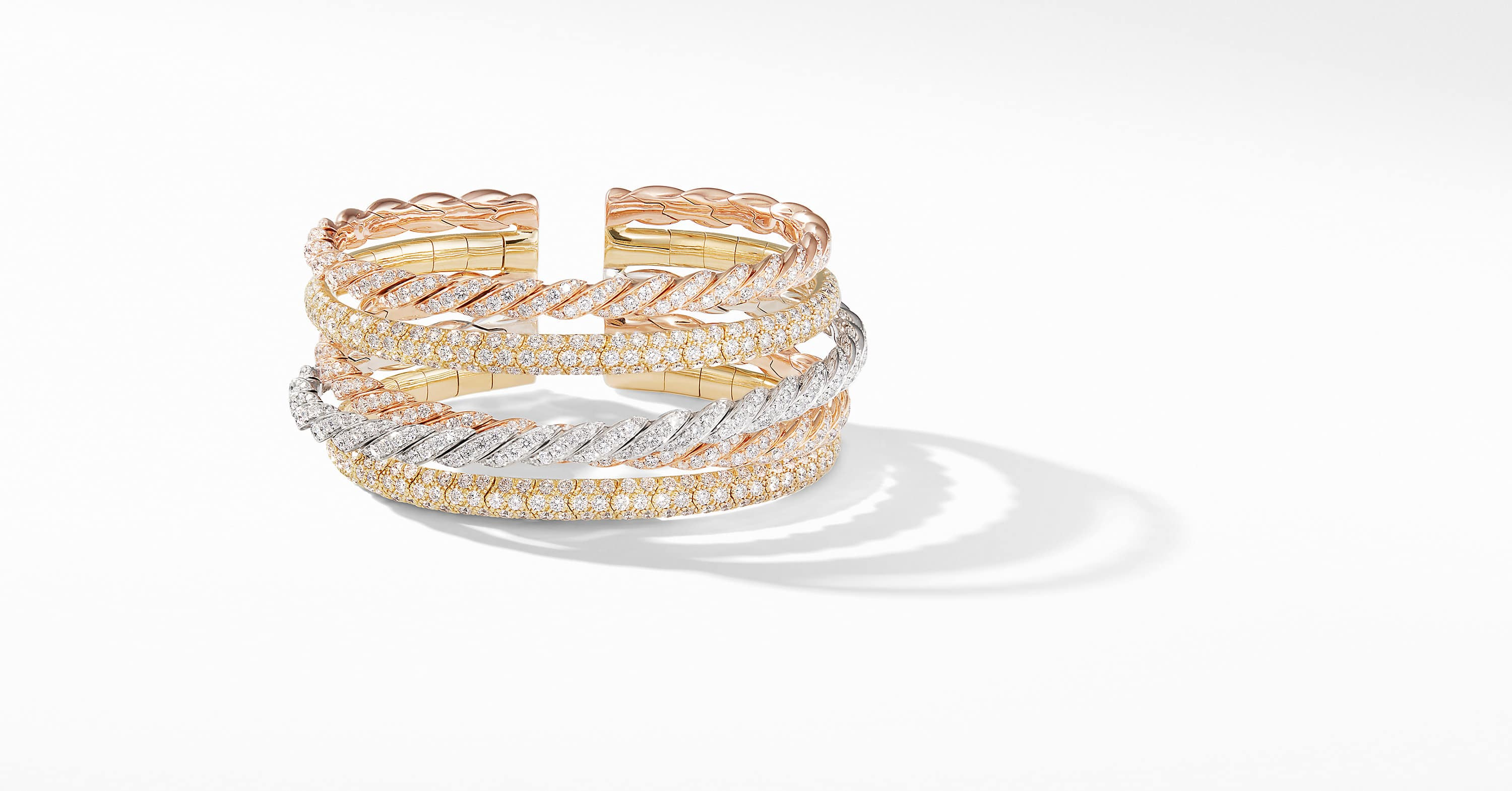 Pavéflex Five Row Bracelet  in 18K with Diamonds