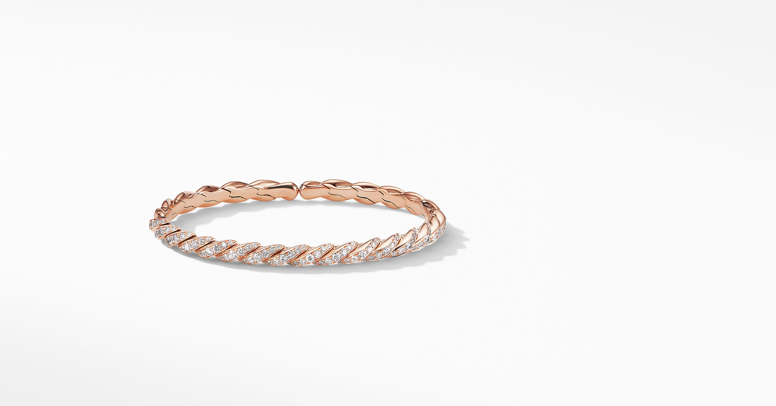 Pavéflex Bracelet in 18K Rose Gold with Diamonds
