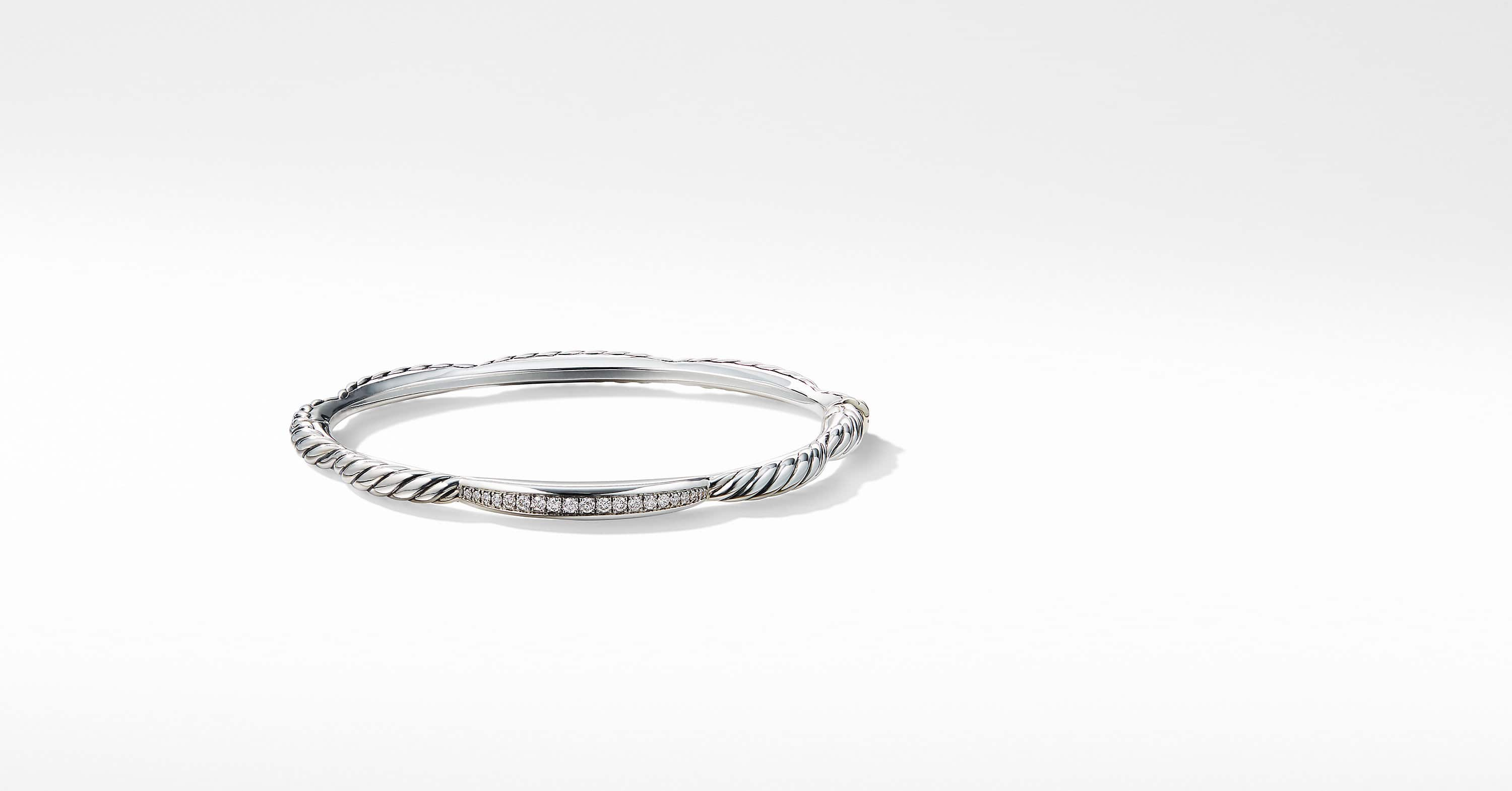 Tides Single Station Bracelet with Diamonds, 4mm