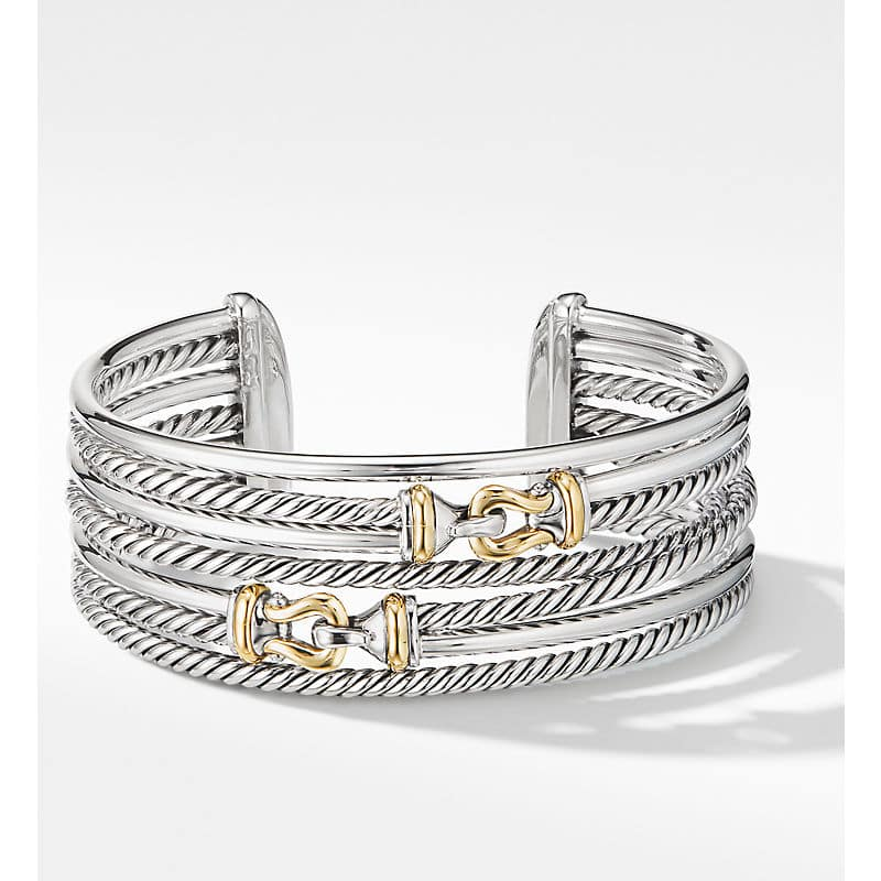 The Crossover Collection Buckle Cuff Bracelet with 18K Yellow Gold