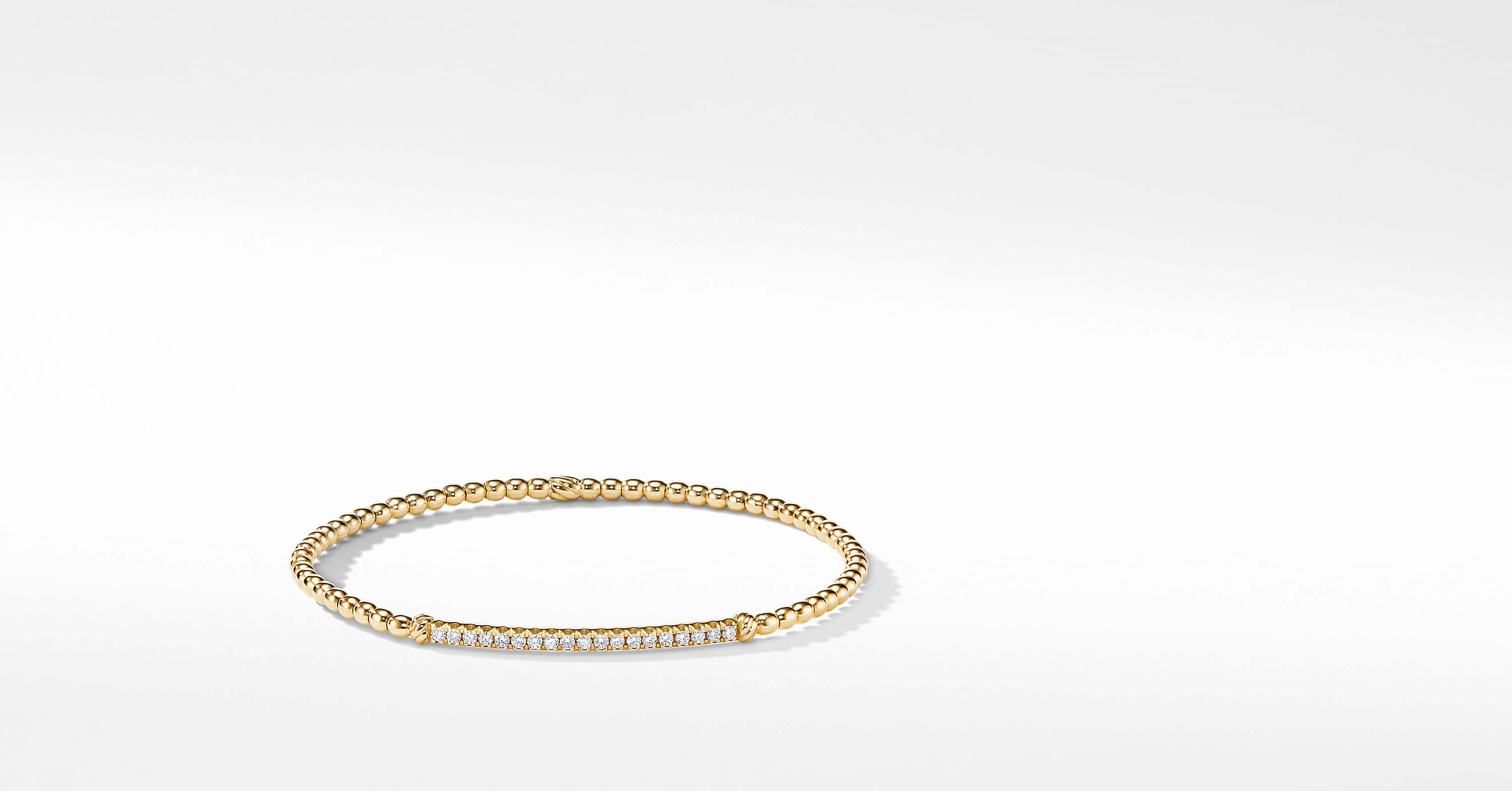 Petite Pavéflex Bracelet in 18K Yellow Gold