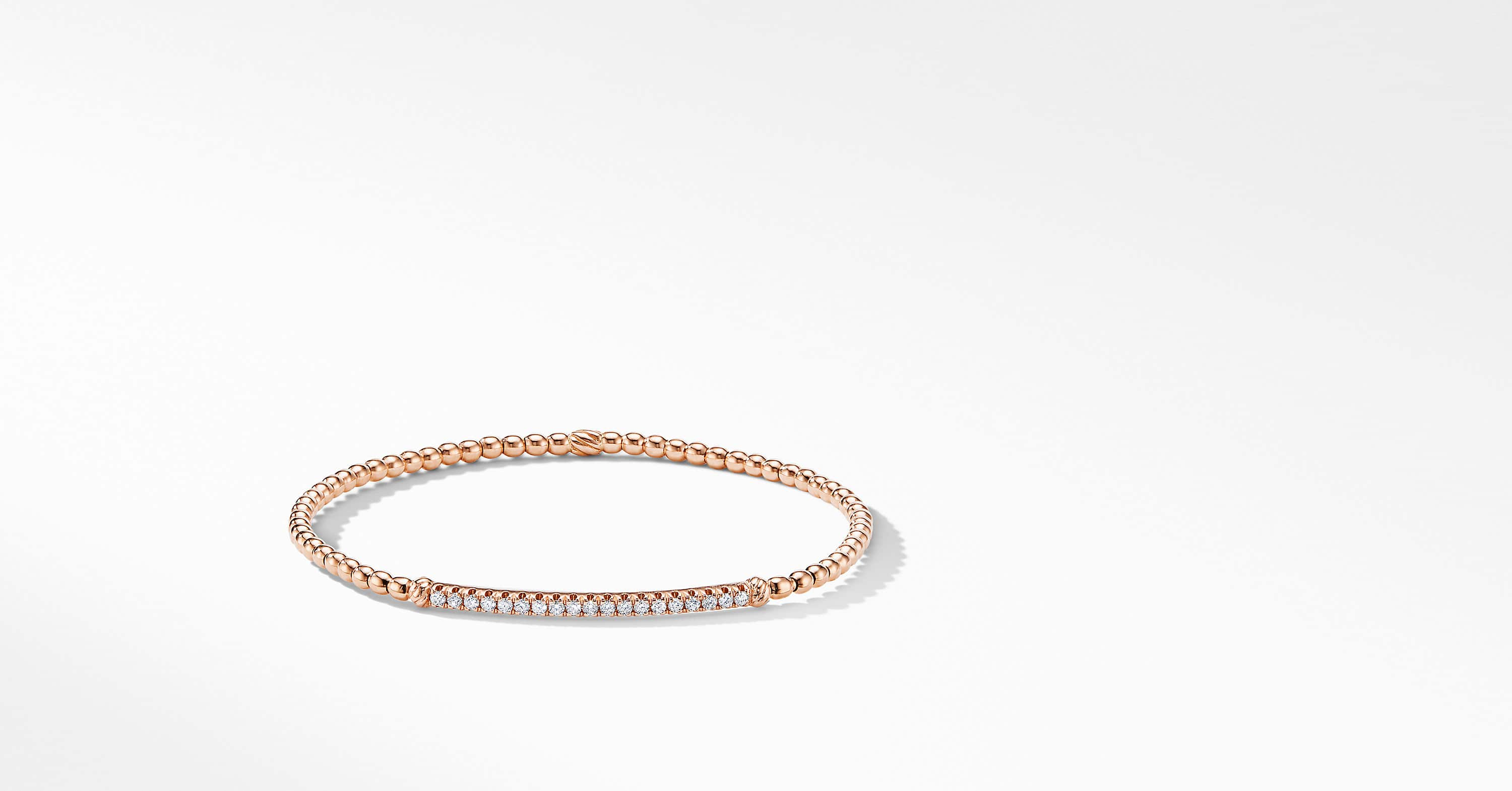 Petite Pavéflex Bracelet in 18K Rose Gold with Diamonds