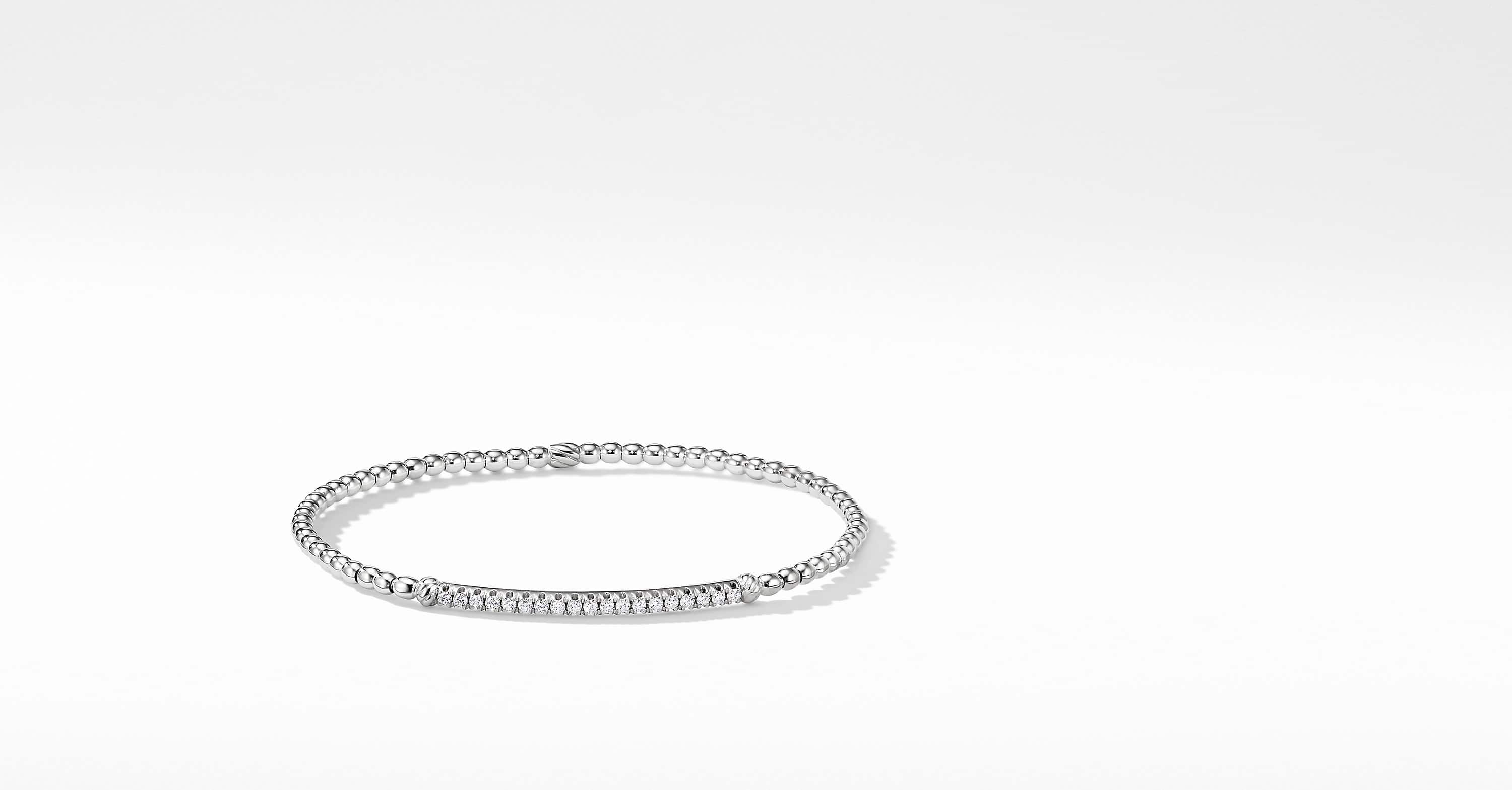 Petite Pavéflex Bracelet in 18K White Gold with Diamonds