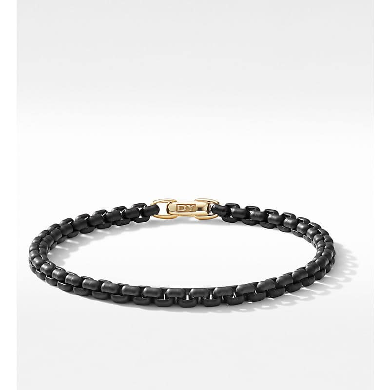 DY Bel Aire Chain Bracelet with 14K Yellow Gold Accent, 4mm