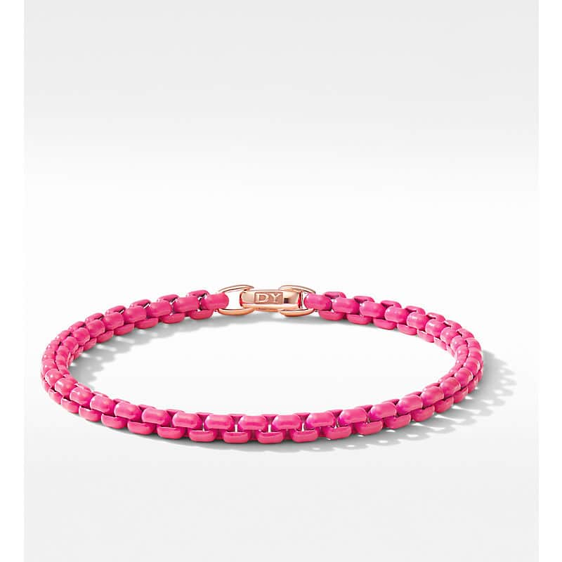DY Bel Aire Chain Bracelet with 14K Rose Gold Accent, 4mm