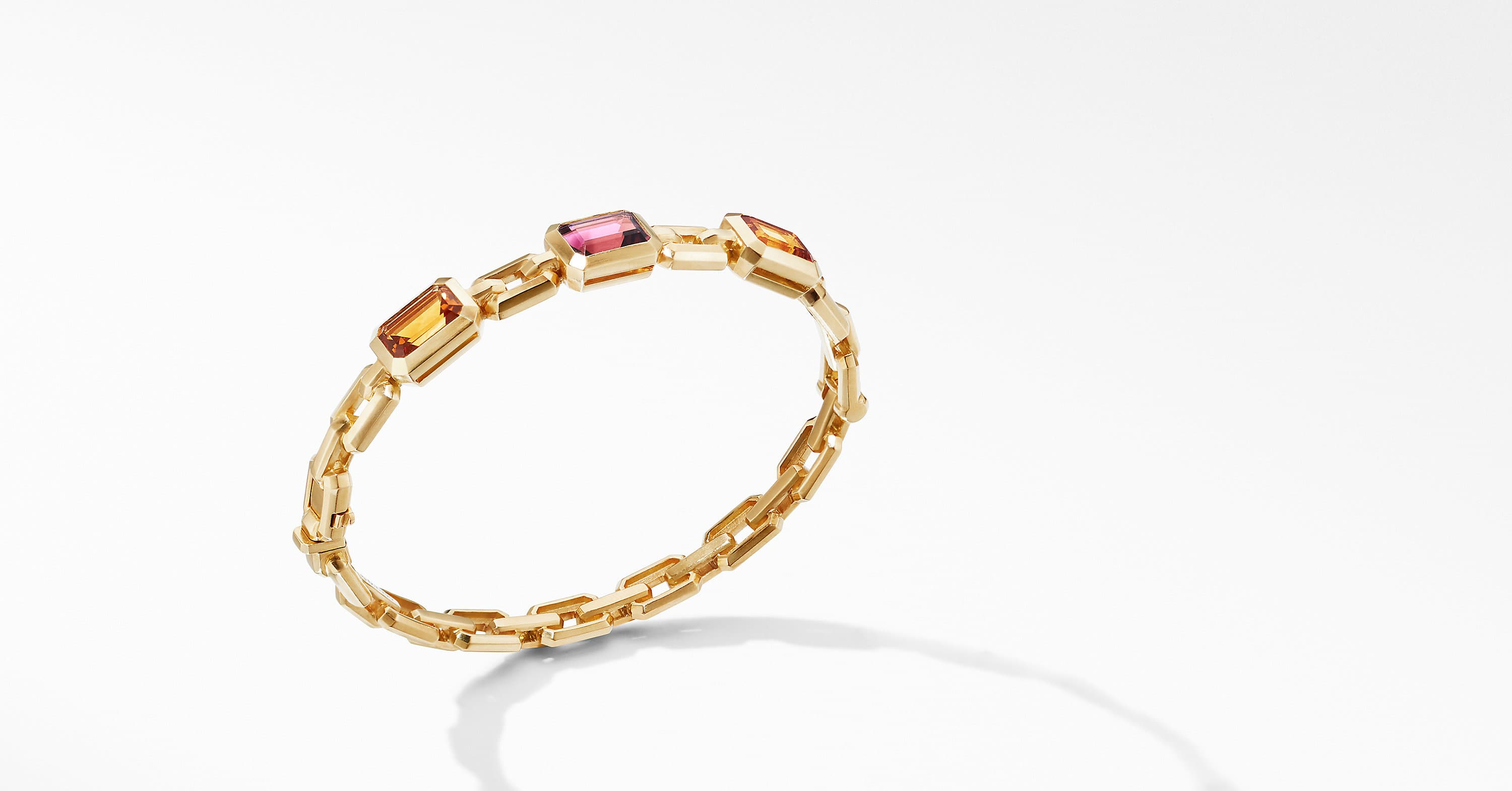 Novella Three Stone Bracelet in 18K Yellow Gold