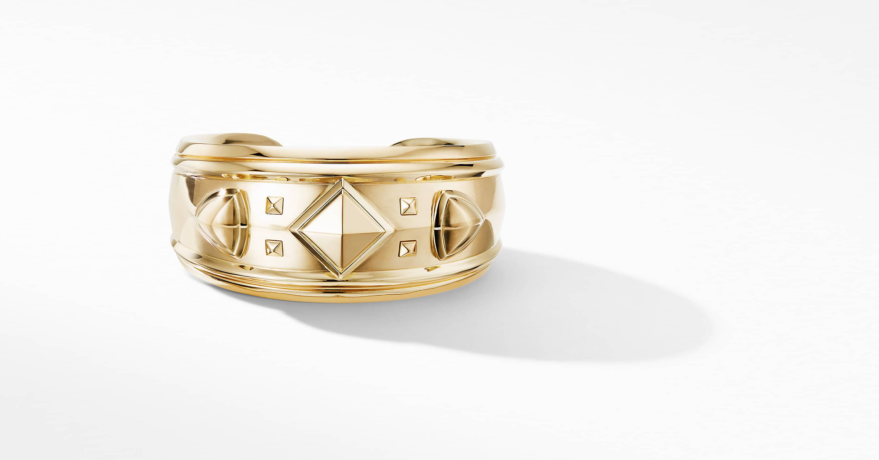 Bold Renaissance Cuff Bracelet in 18K Yellow Gold