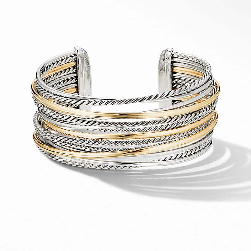 The Crossover Collection® Wide Cuff Bracelet with 18K