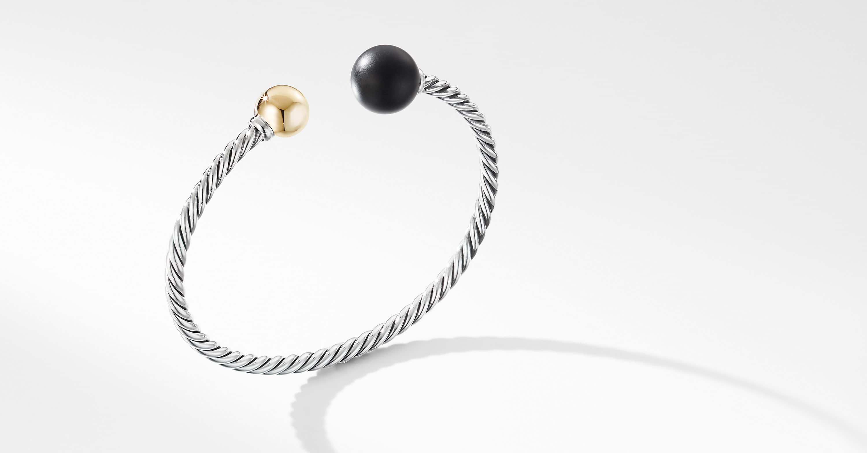 Solari XL Cable Bracelet with 14K Yellow Gold, 3.5mm