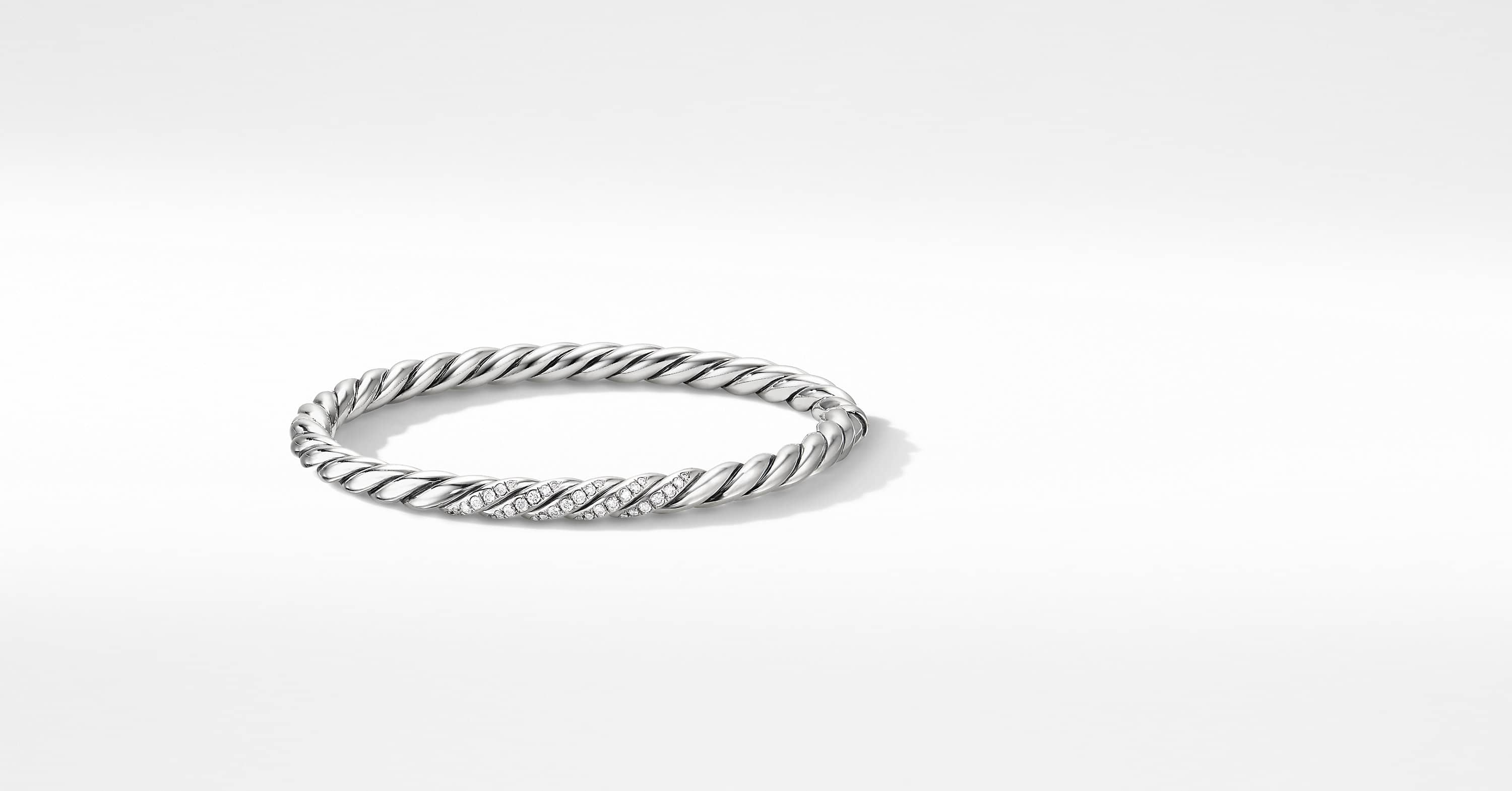 Stax Cable Bracelet with Diamonds, 5mm