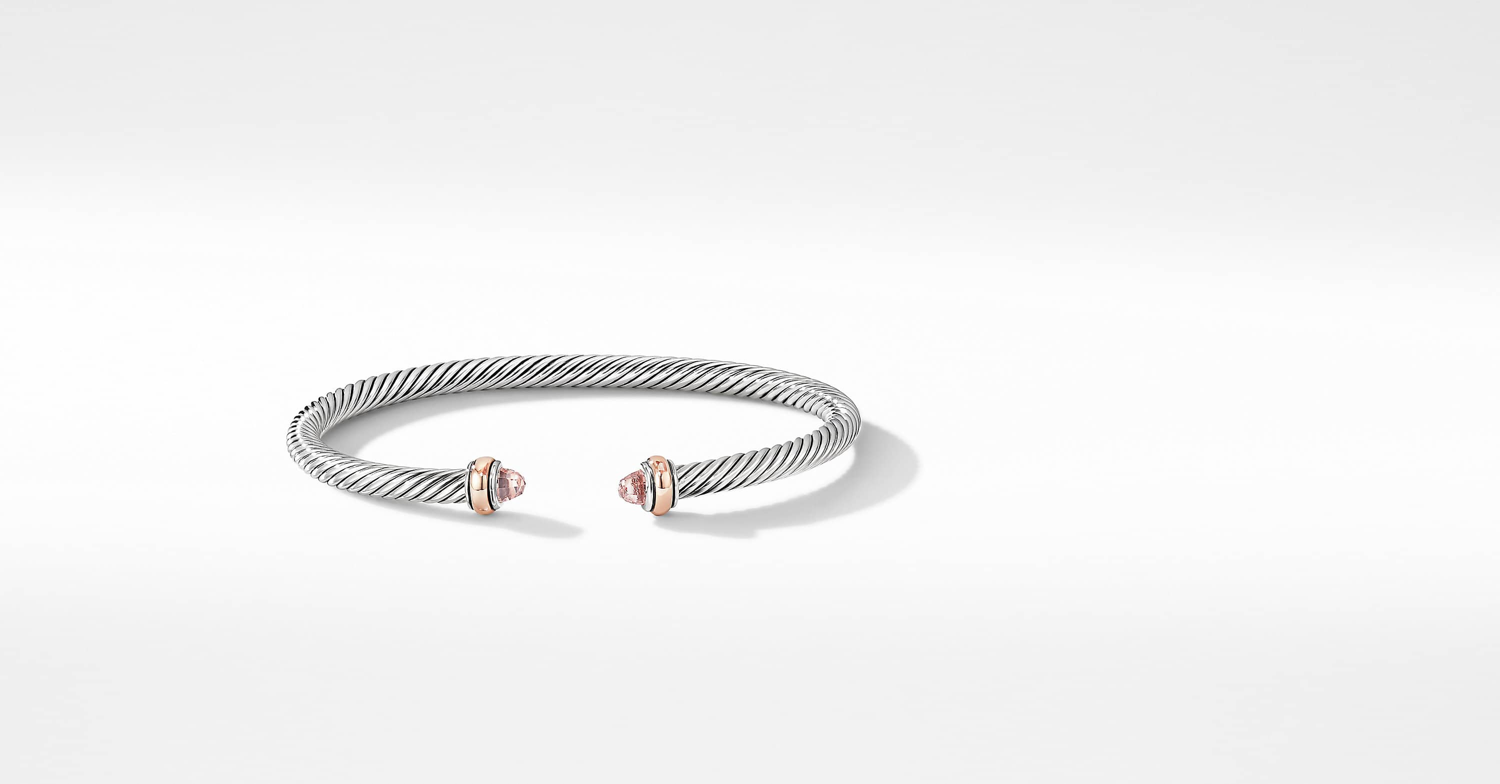 Bracelet Cable Classics avec or rose 18 carats, 4 mm