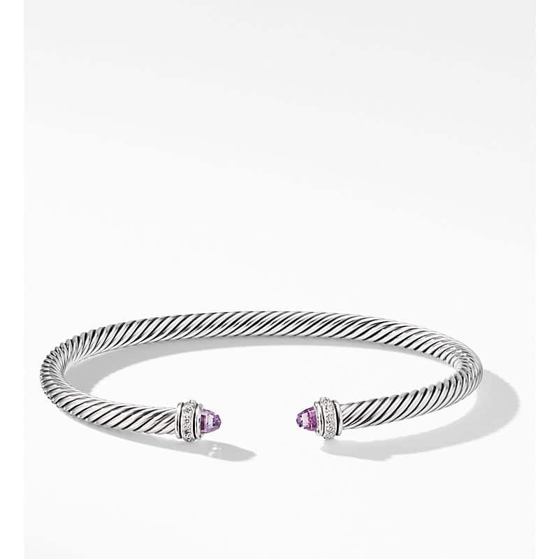 Cable Classic Collection Bracelet with Diamonds, 4mm