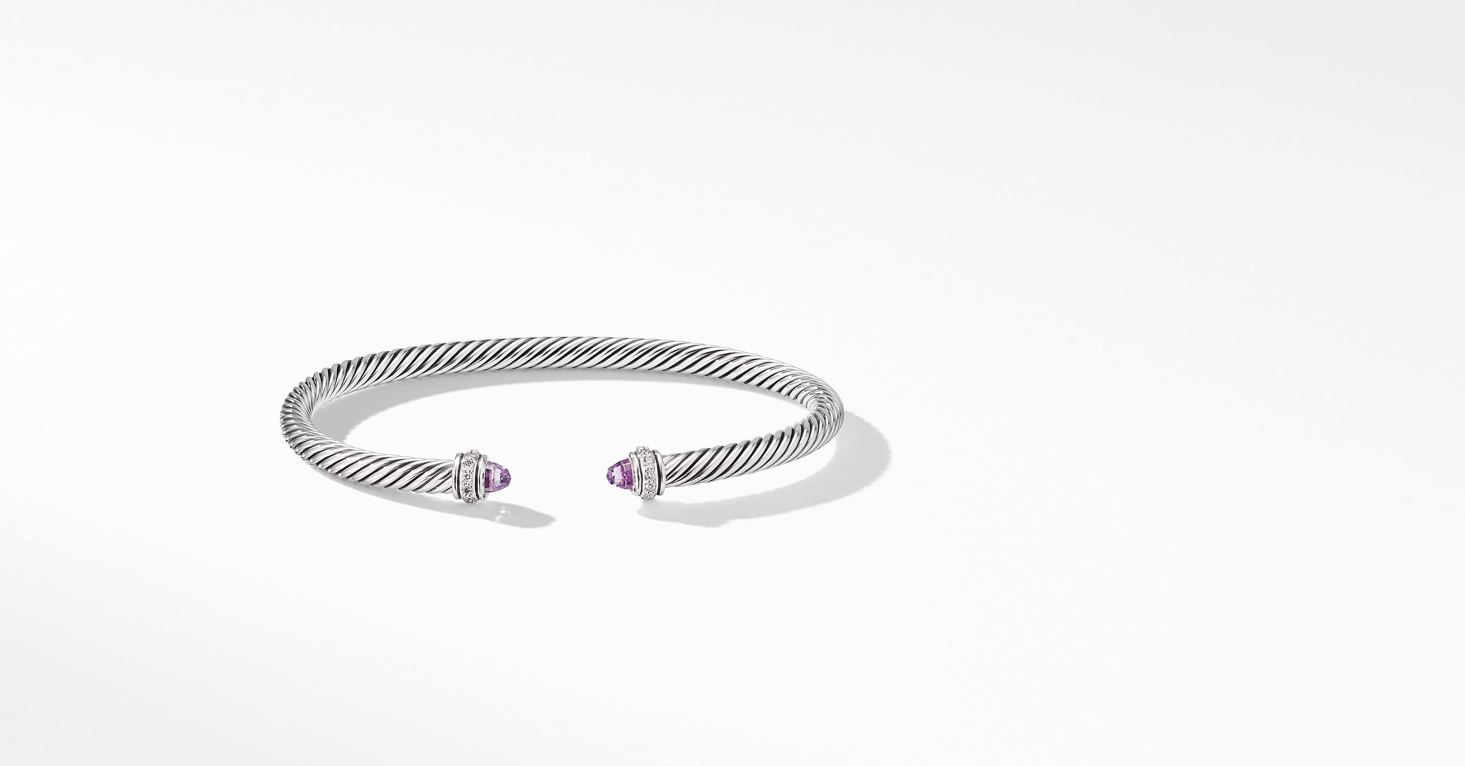 Bracelet avec diamants Cable Classic Collection, 4 mm