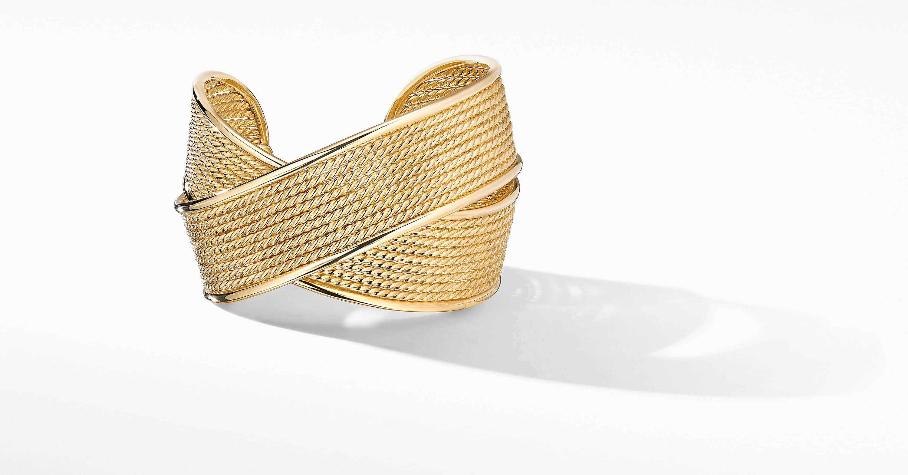 DY Origami Large Crossover Cuff Bracelet in 18K Yellow Gold