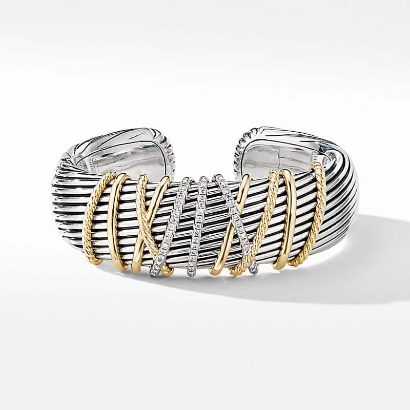Helena Cuff Bracelet with 18K Yellow Gold and