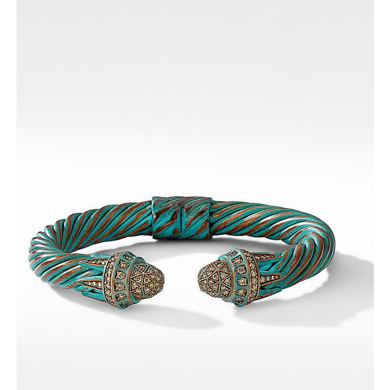 Statue of Liberty Cable Bracelet in Copper with Pavé