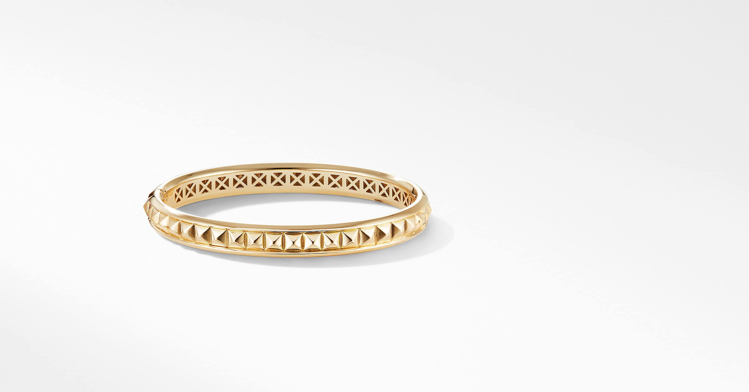 Modern Renaissance Pyramid Bracelet in 18K Yellow Gold