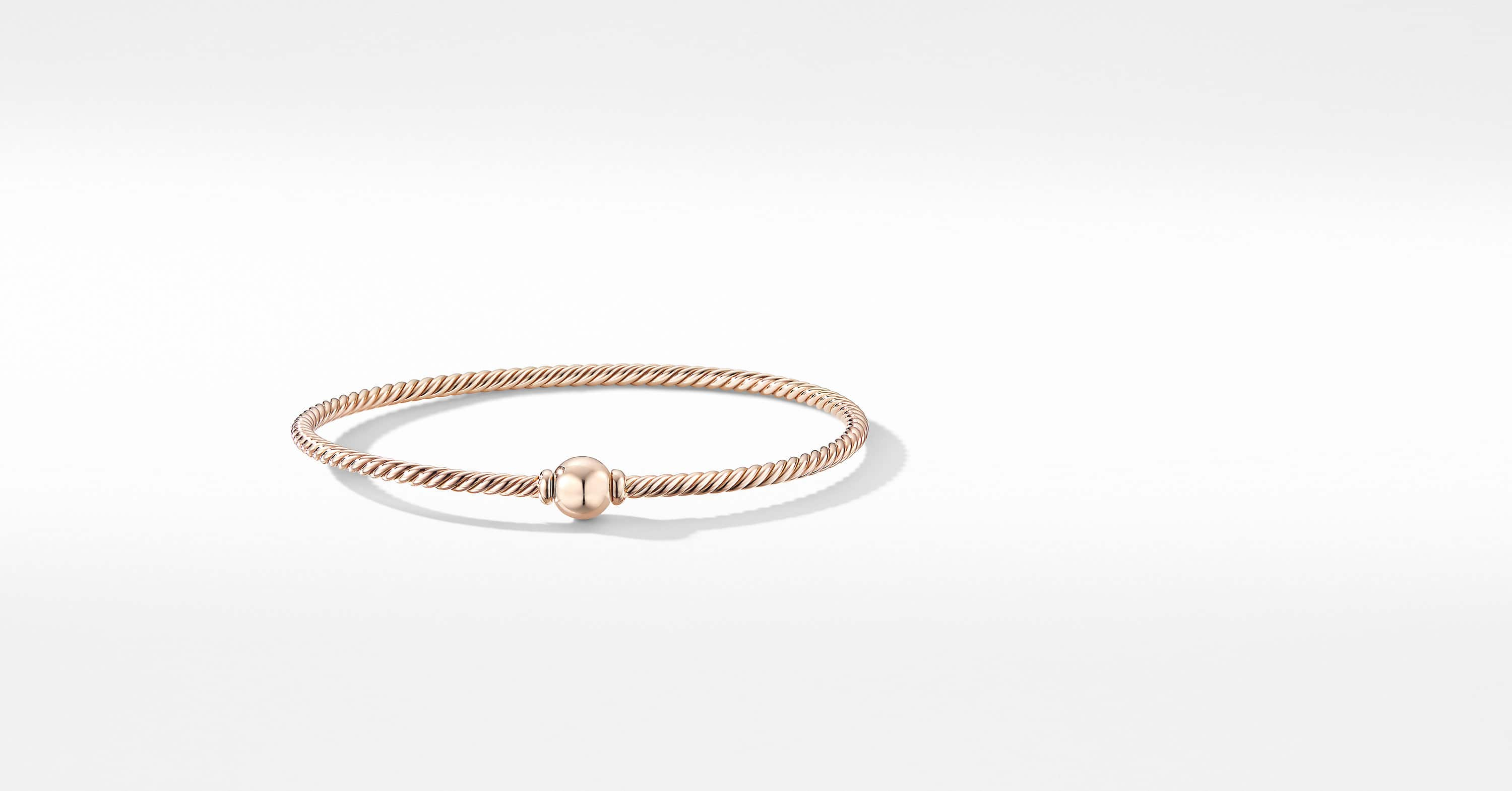 Solari Center Station Bracelet in 18K Rose Gold