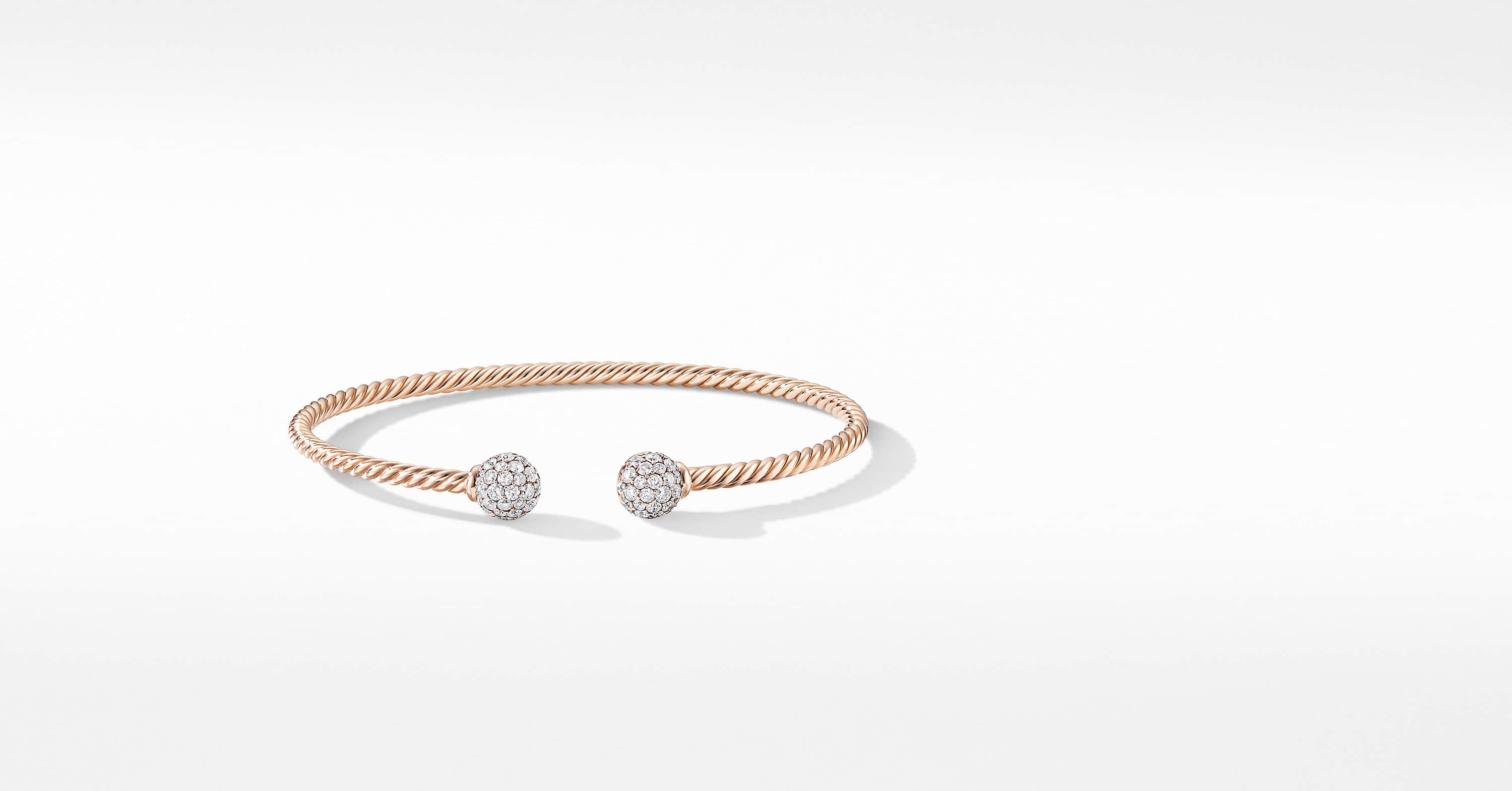 Bracelet Solari en or rose 18K avec diamants