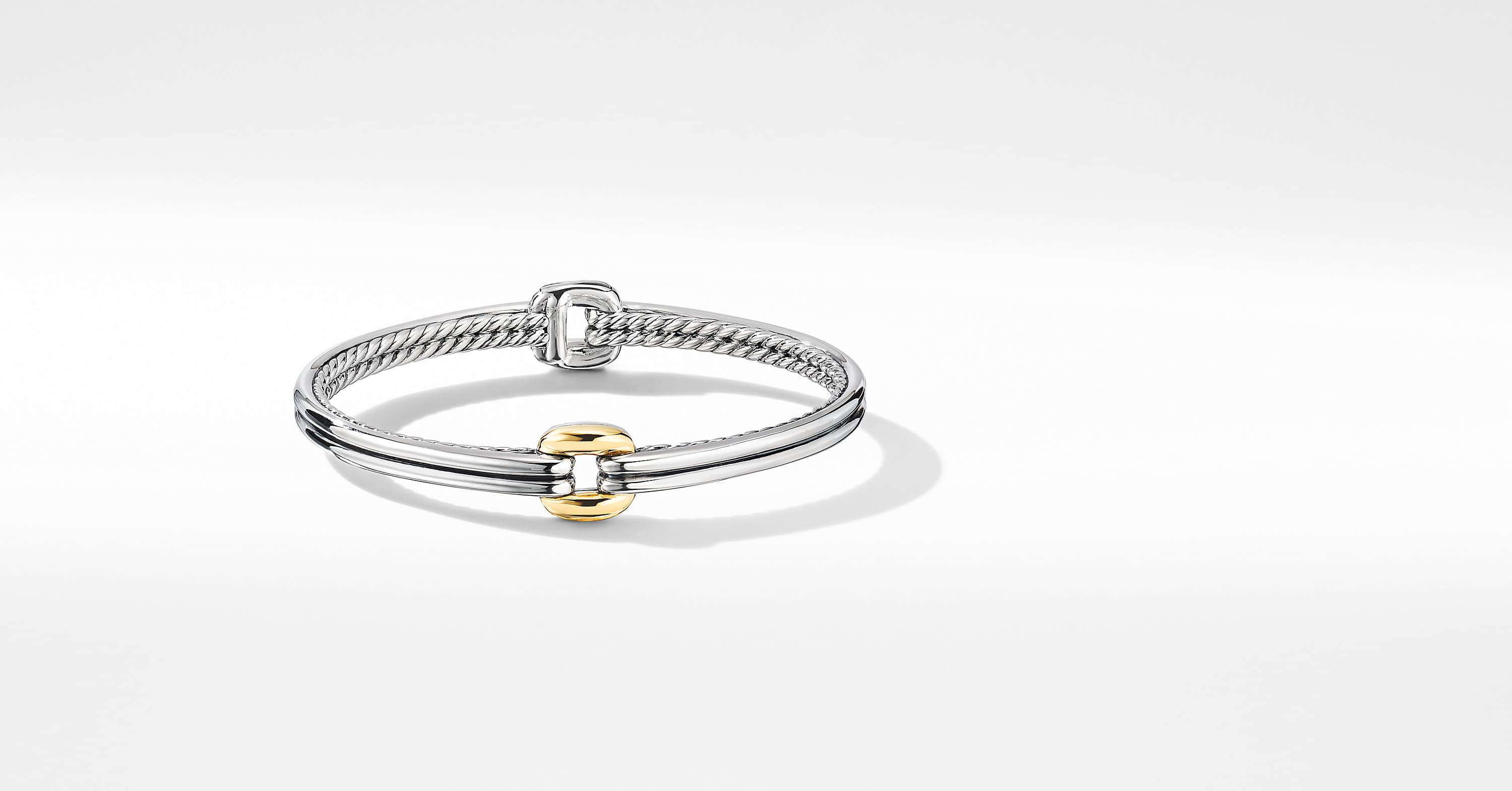 Thoroughbred Center Link Bracelet with 18K Yellow Gold