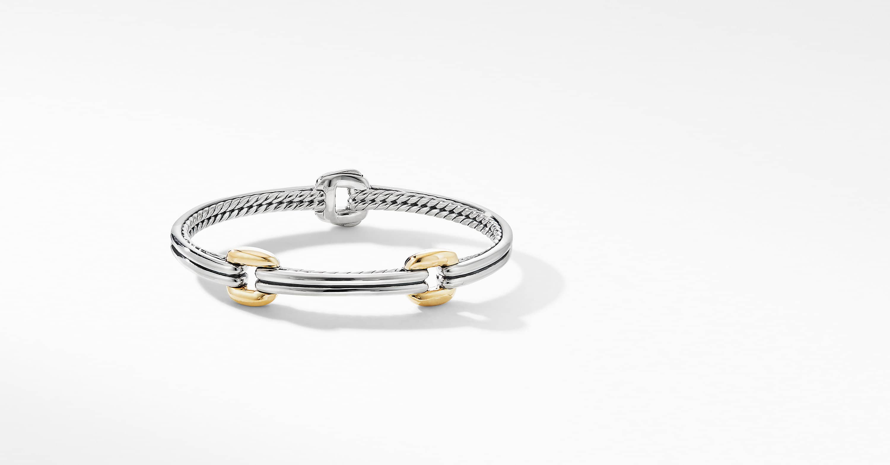 Thoroughbred Double Link Bracelet with 18K Yellow Gold