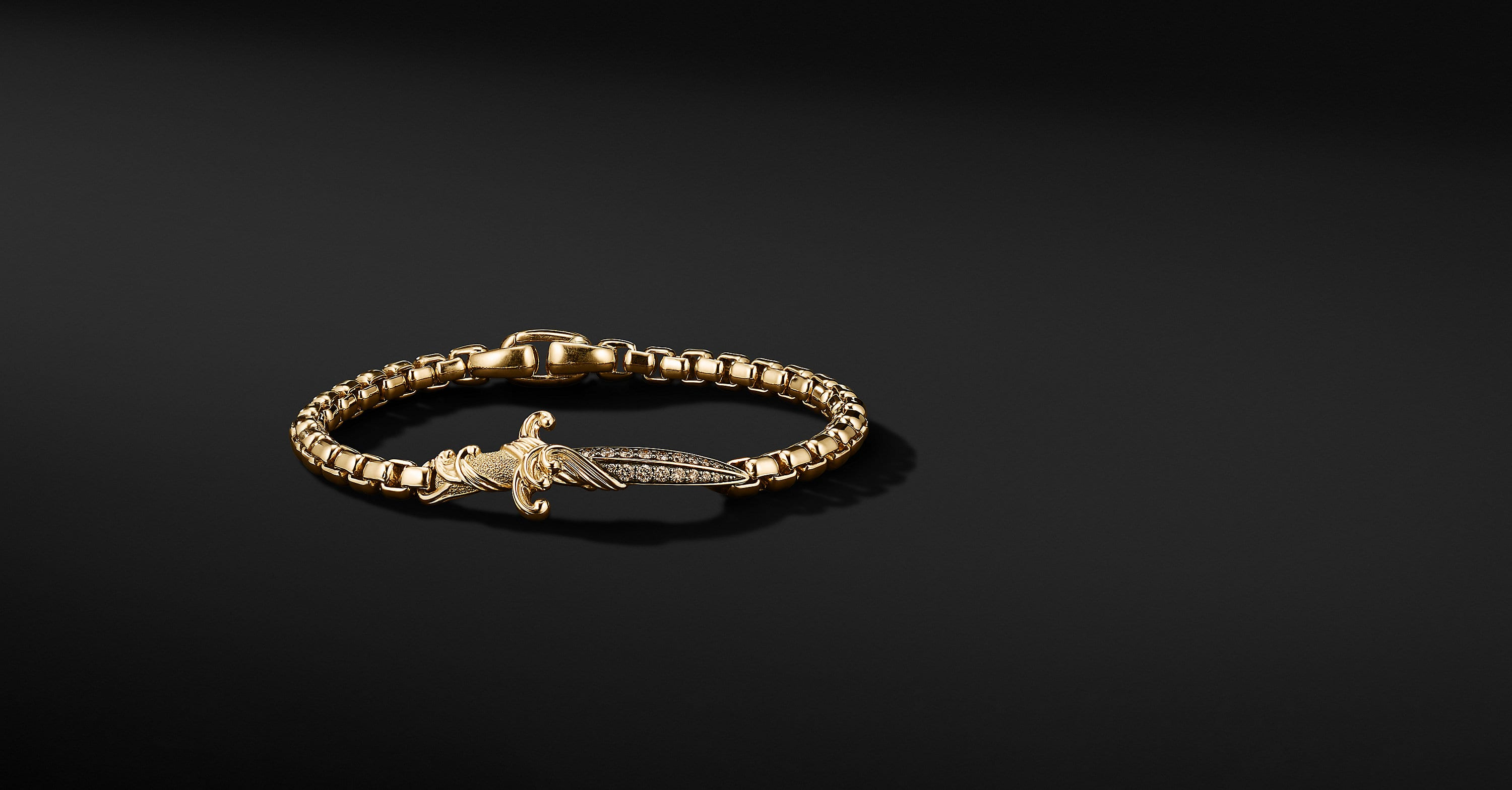 Waves Dagger Bracelet in 18K Yellow Gold