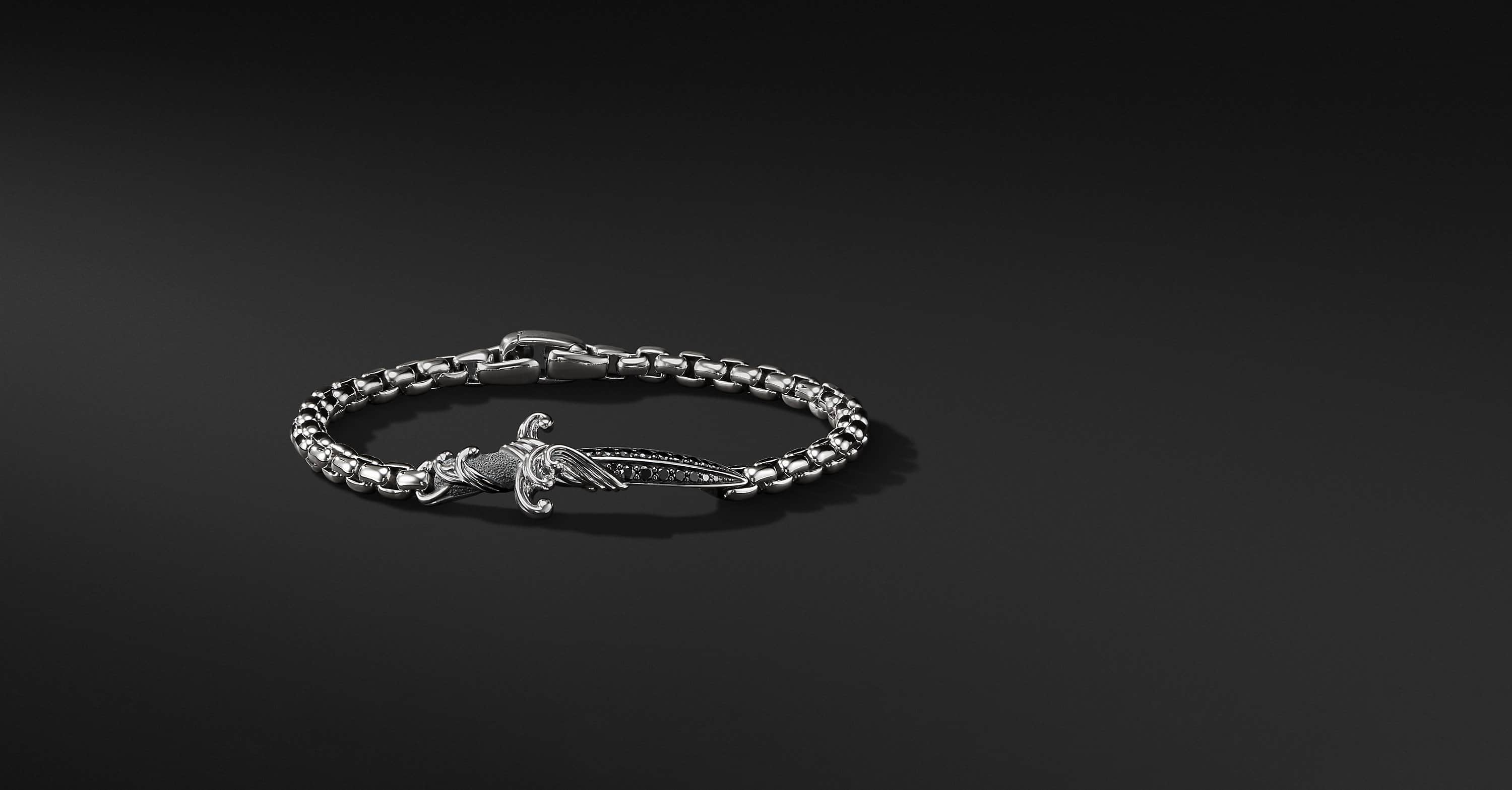 Waves Dagger Bracelet with Diamonds