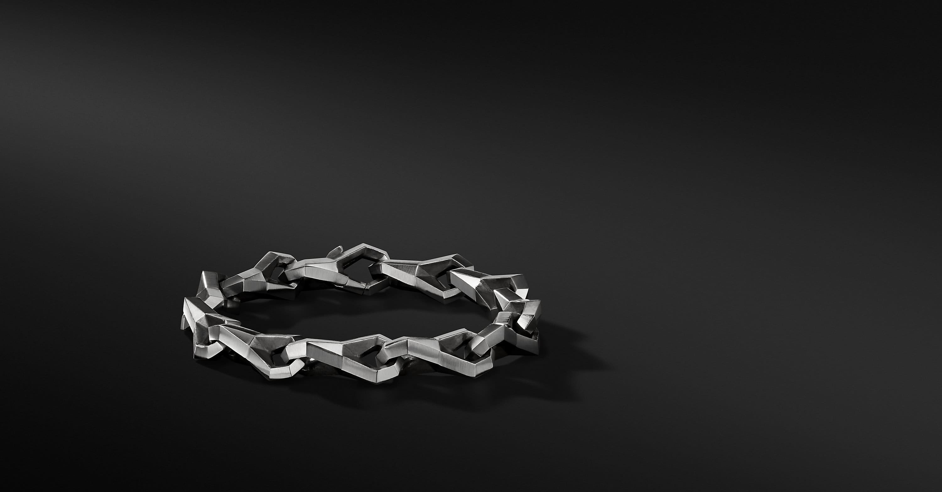 Faceted Metal Link Bracelet
