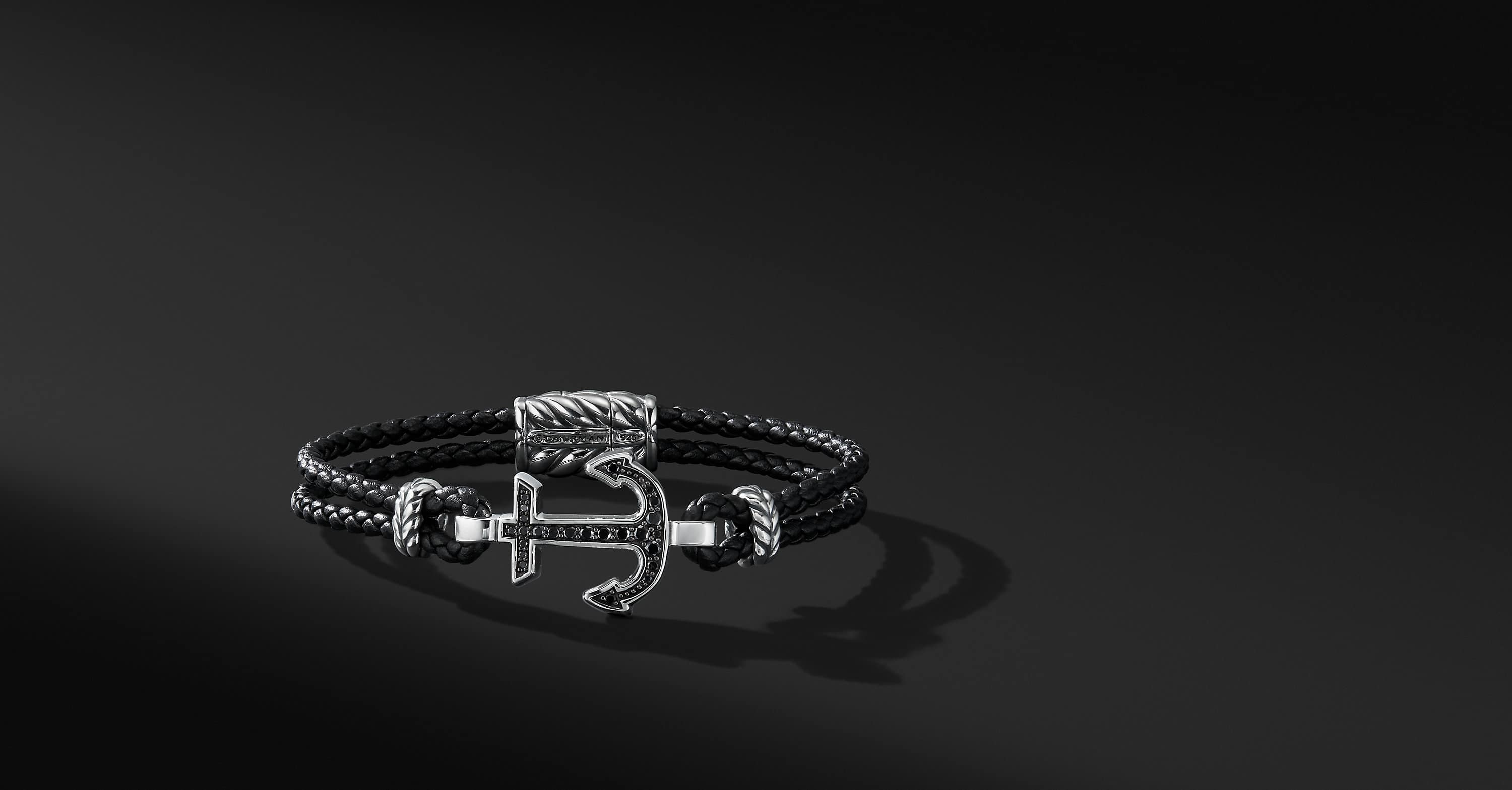 Maritime Anchor Station Leather Bracelet